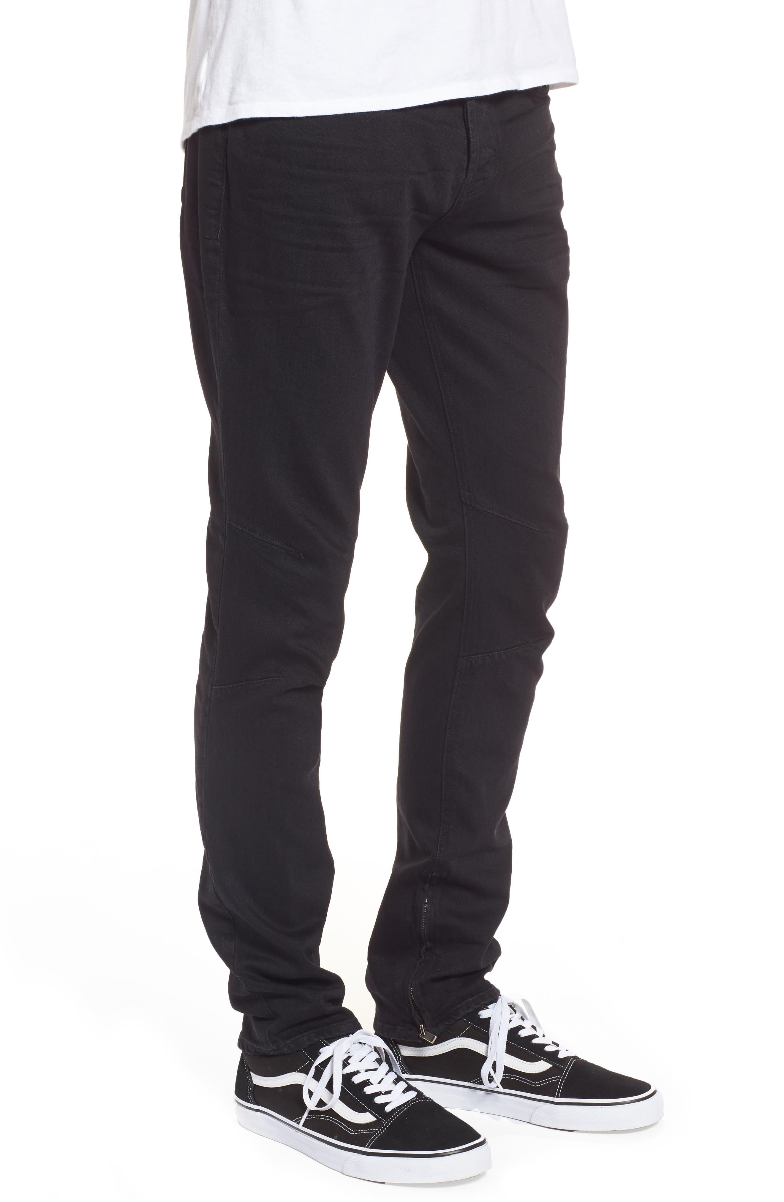 Alternate Image 3  - Hudson Jeans Vaughn Biker Skinny Fit Jeans (Gamble)