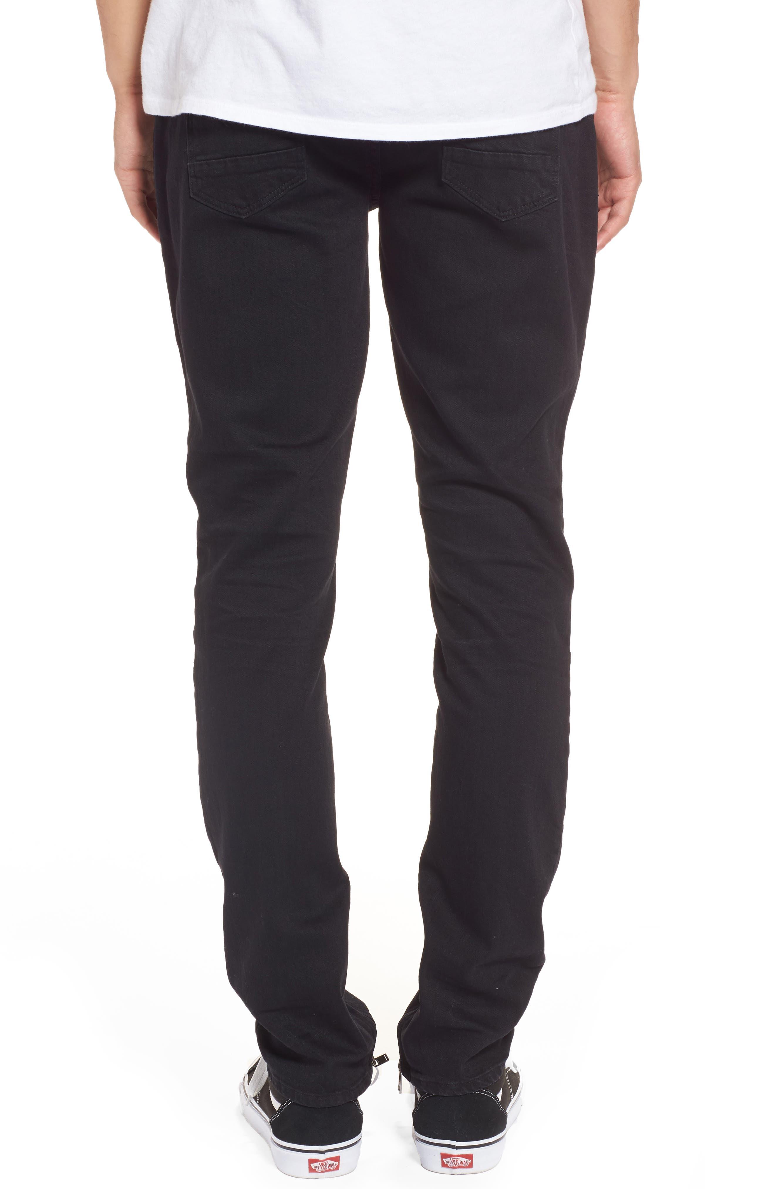 Alternate Image 2  - Hudson Jeans Vaughn Biker Skinny Fit Jeans (Gamble)