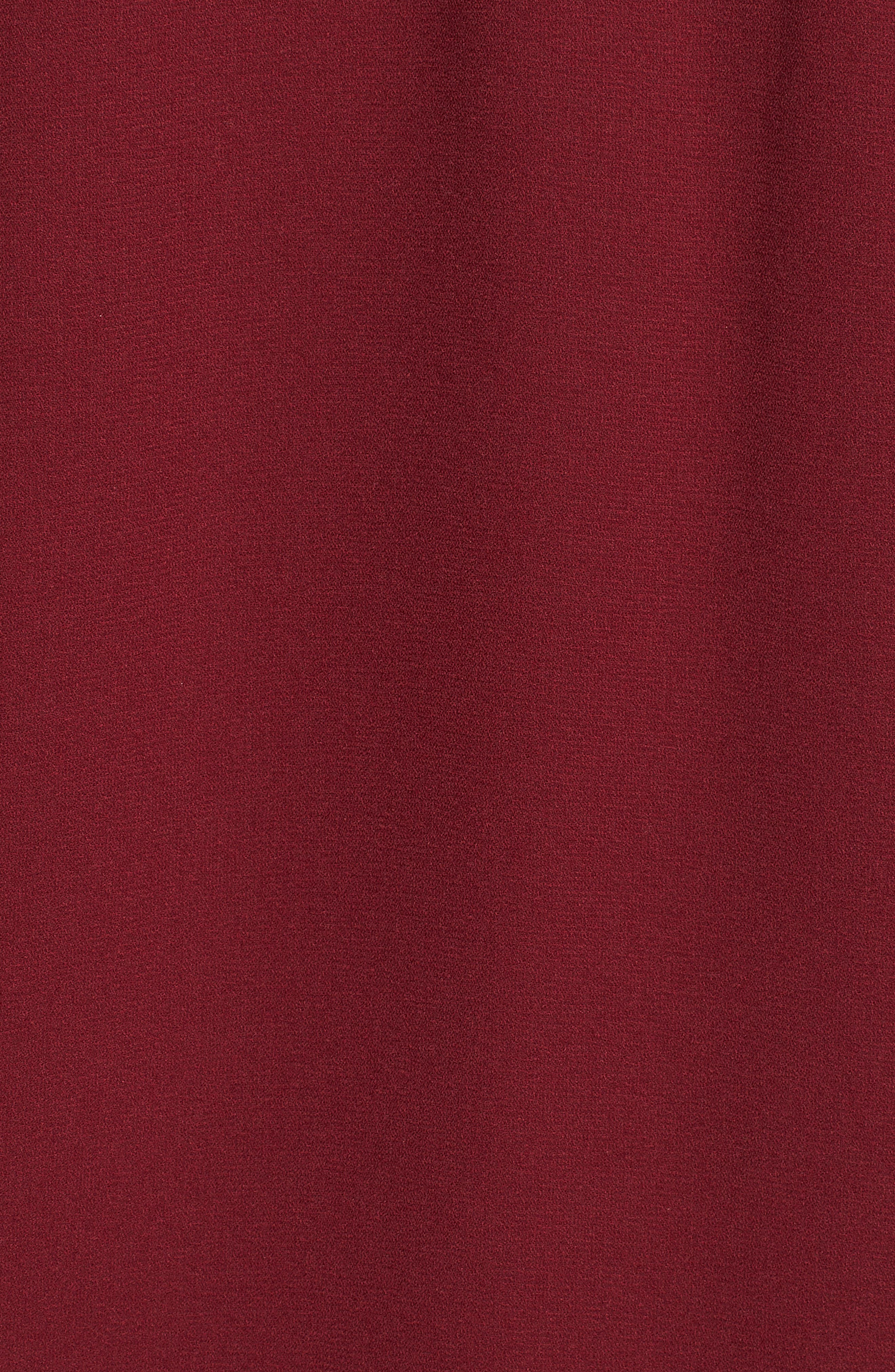 Akane Cold Shoulder Top,                             Alternate thumbnail 5, color,                             Cranberry
