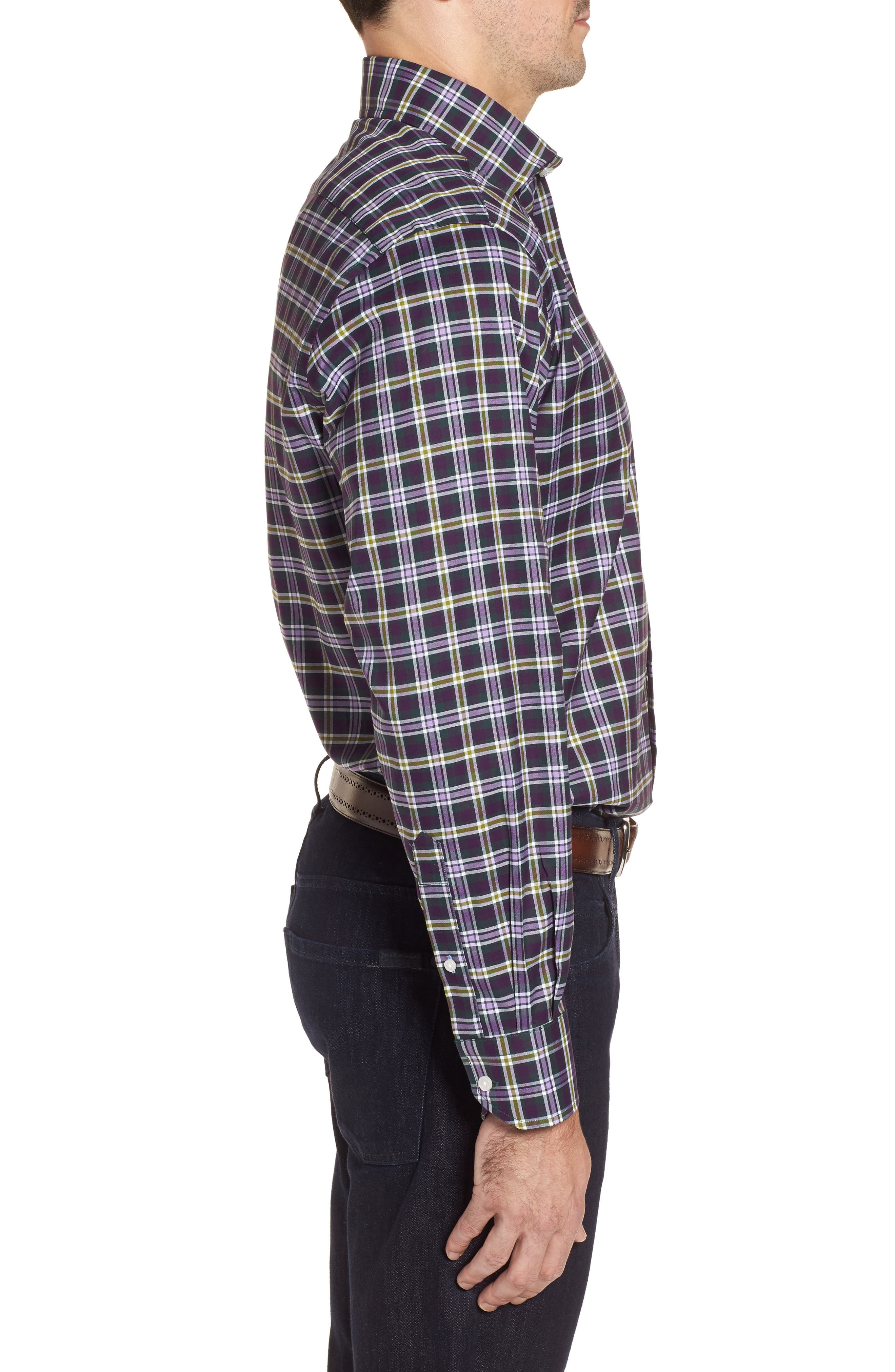 Alternate Image 3  - TailorByrd Calhoun Regular Fit Check Sport Shirt