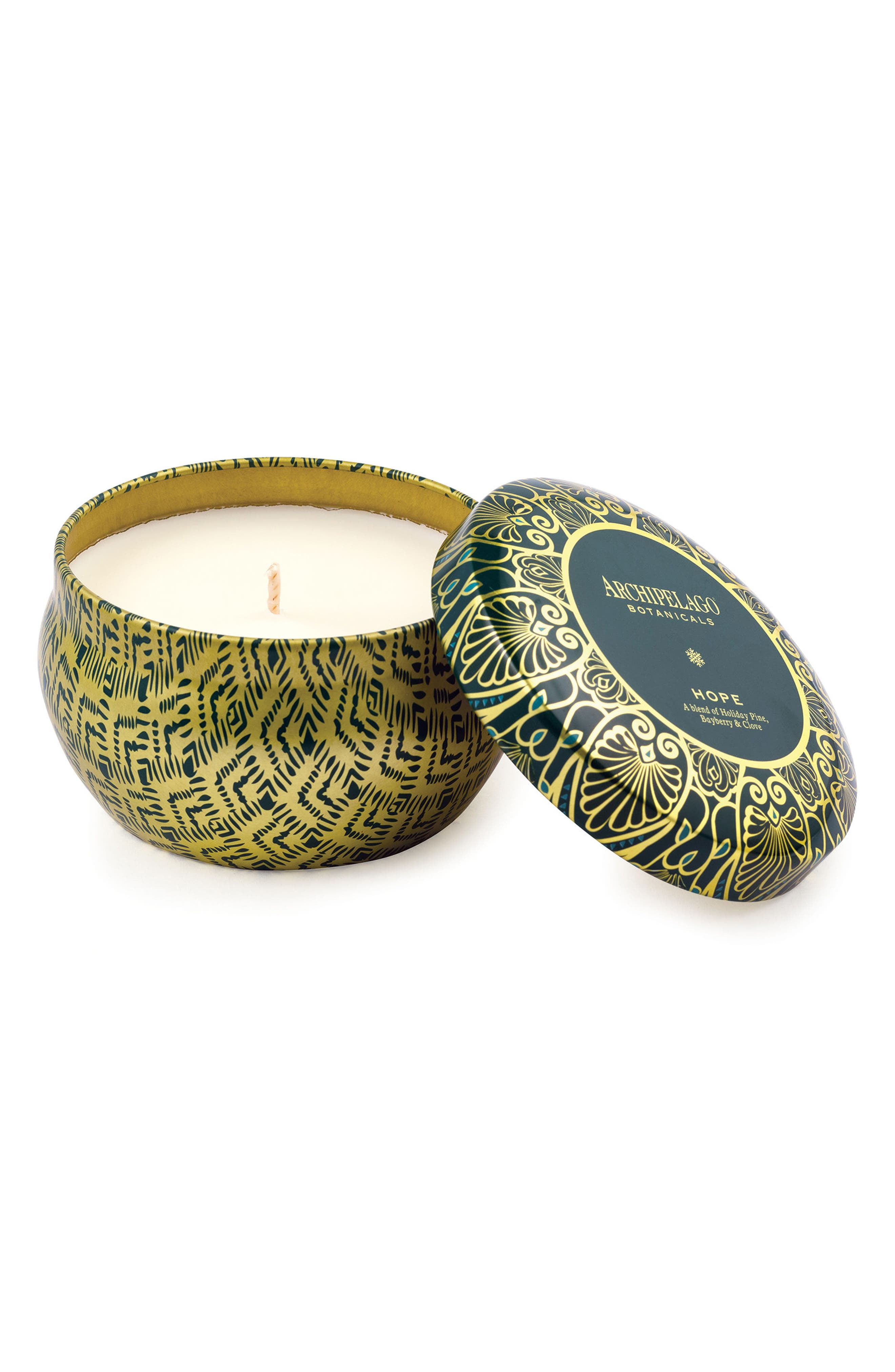 Holiday Tin Candle,                         Main,                         color, Hope