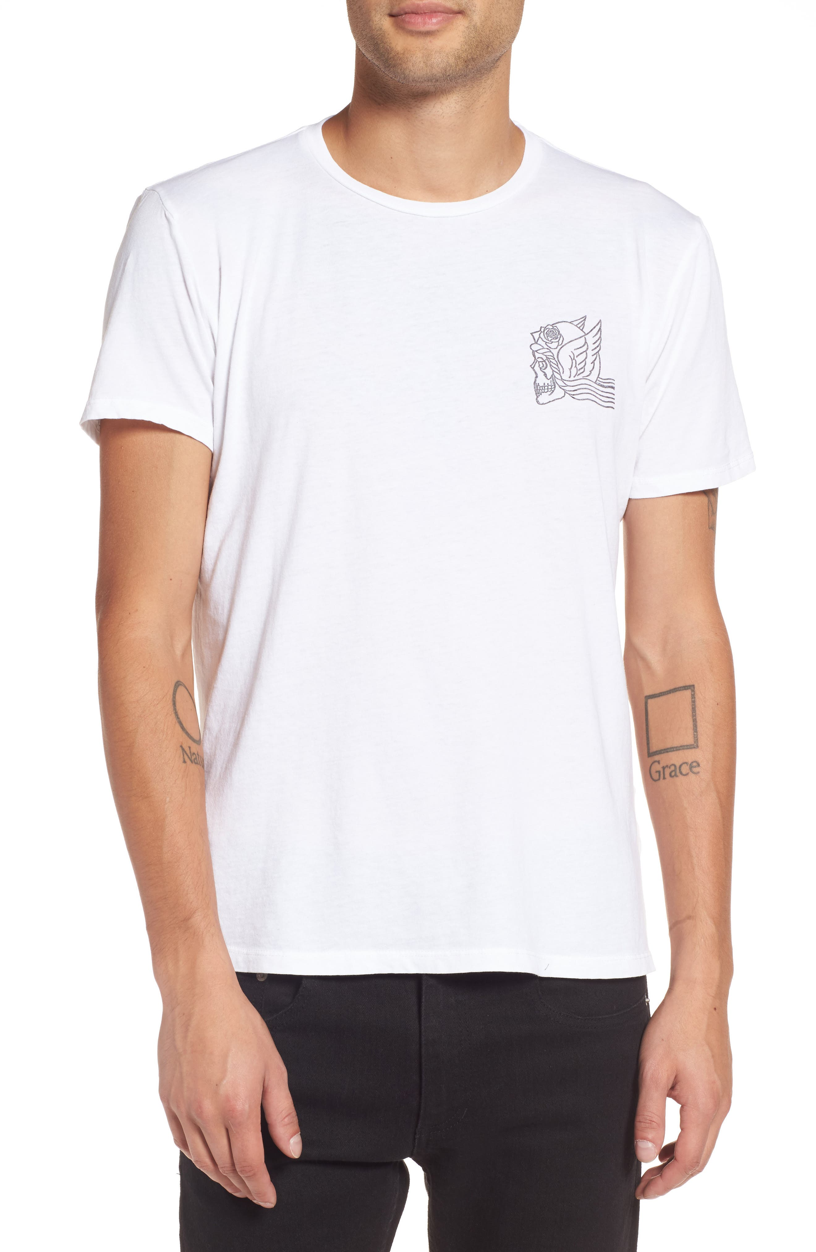 Midnight Angels T-Shirt,                         Main,                         color, White