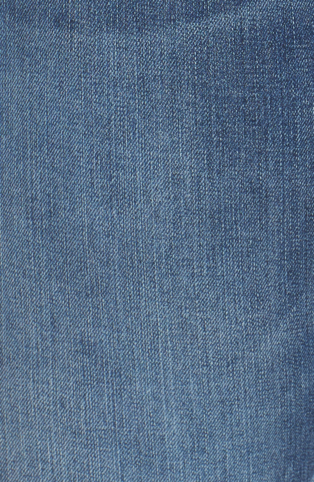 Alternate Image 6  - KUT from the Kloth Connie Frayed Skinny Ankle Jeans (Prolific) (Plus Size)