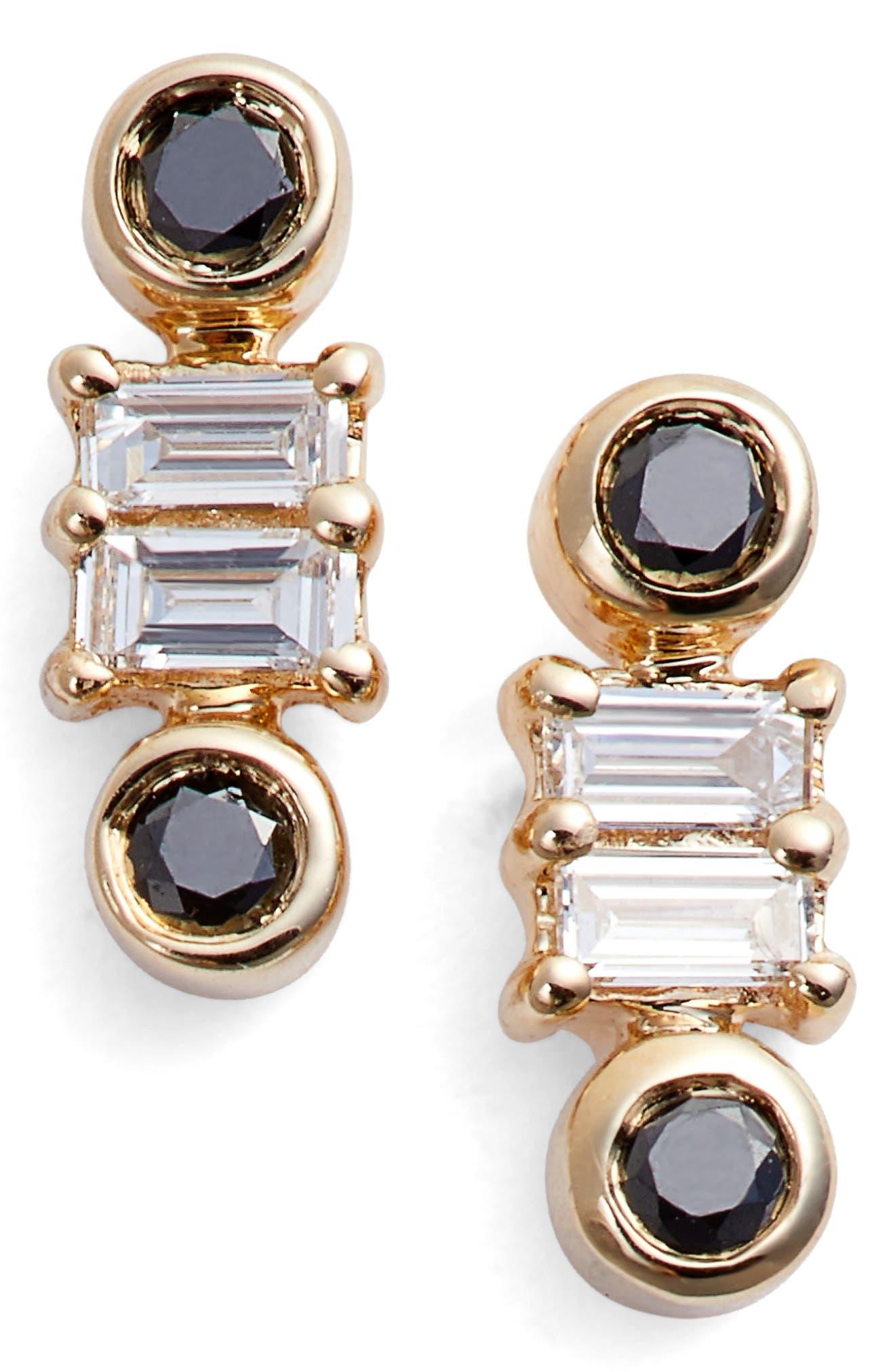 Sadie Stud Earrings,                         Main,                         color, Yellow Gold