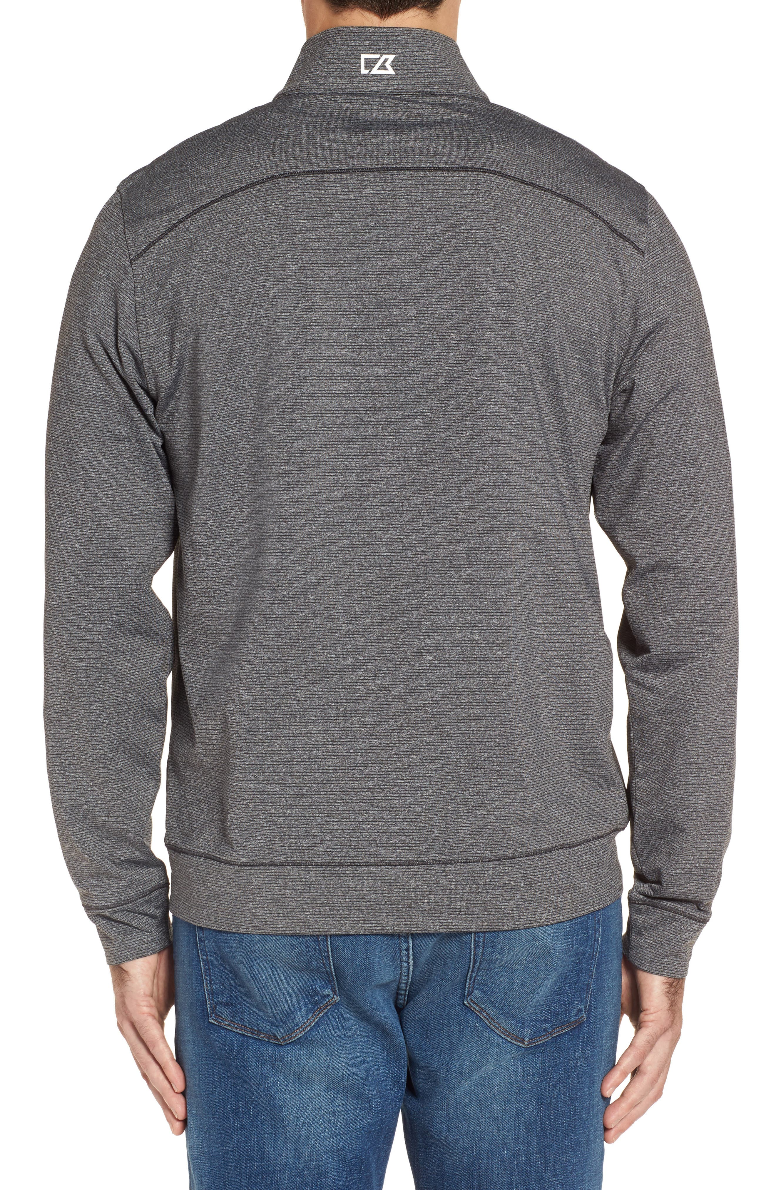 Shoreline - Carolina Panthers Half Zip Pullover,                             Alternate thumbnail 2, color,                             Charcoal Heather
