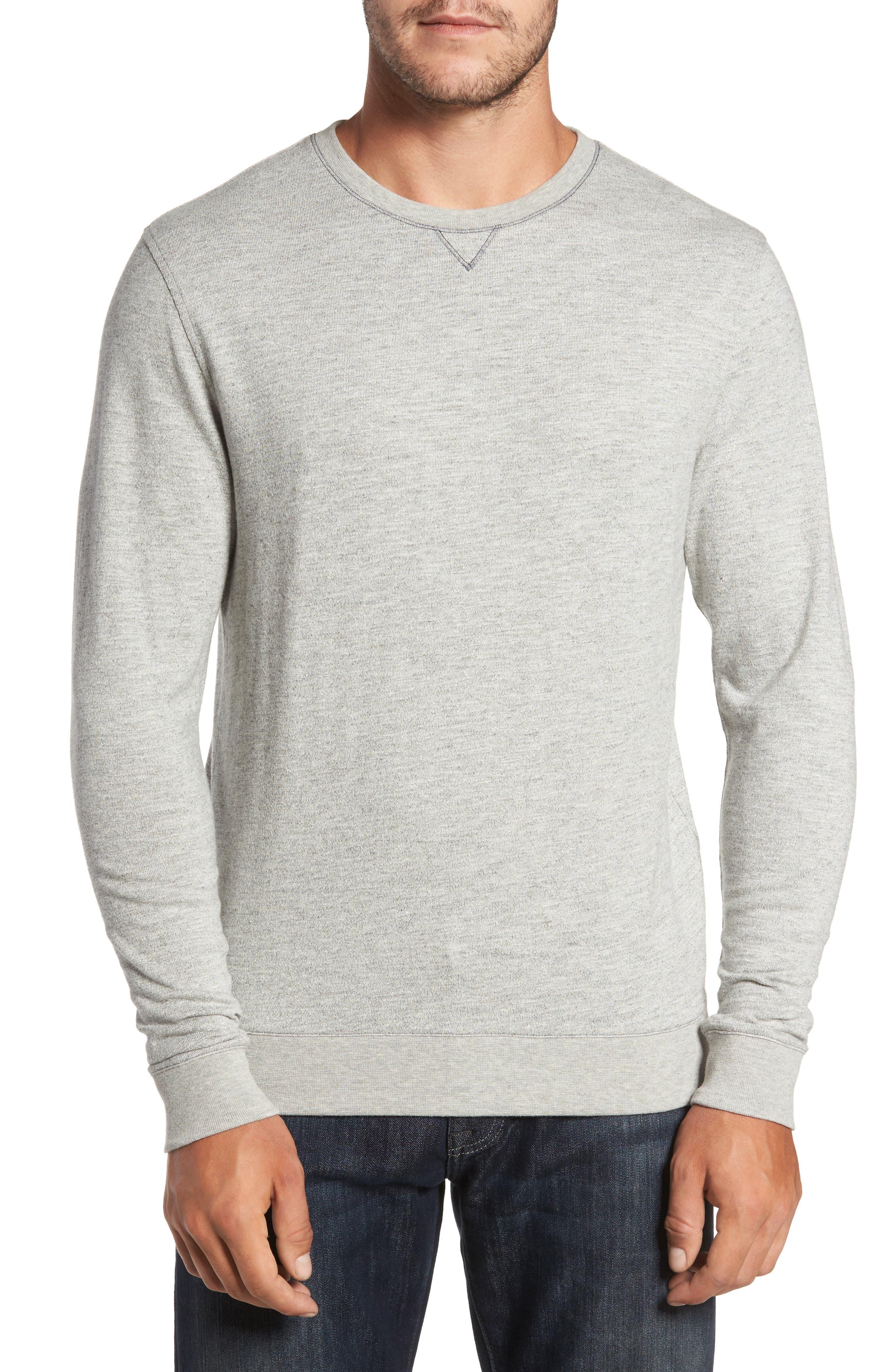 Vienna French Terry T-Shirt,                             Main thumbnail 1, color,                             Light Grey