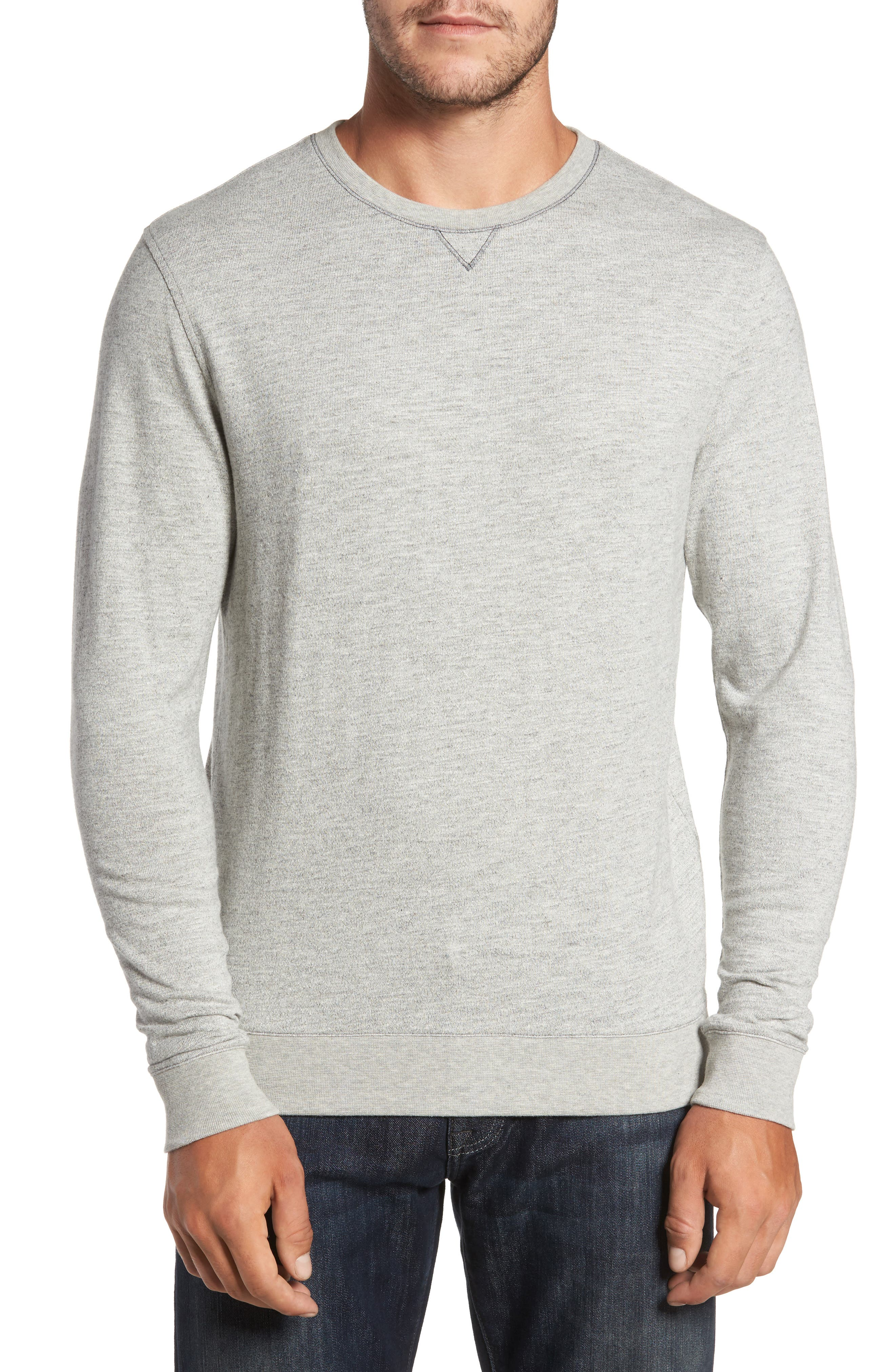 Vienna French Terry T-Shirt,                         Main,                         color, Light Grey