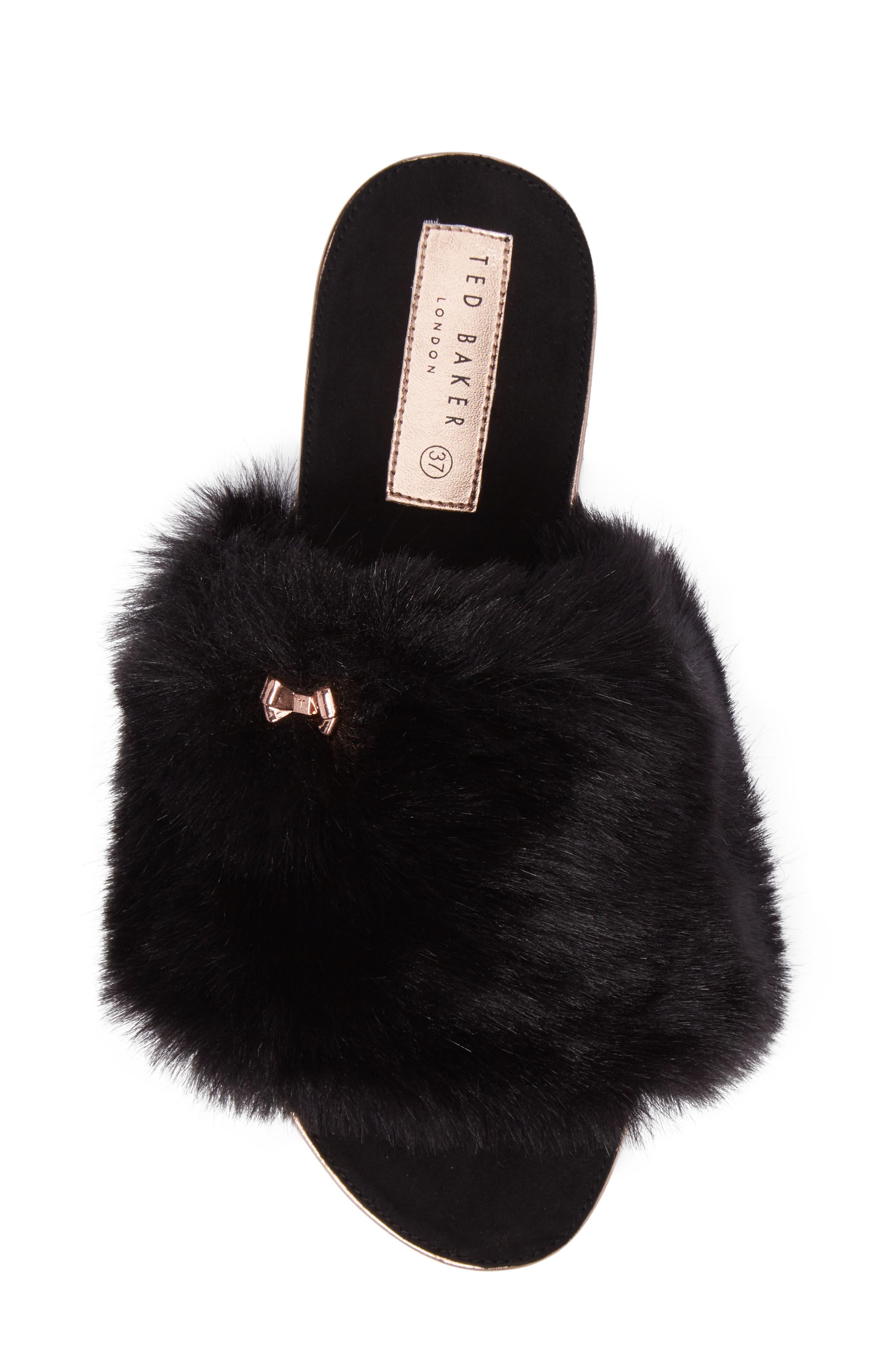 Alternate Image 5  - Ted Baker London Pancey Faux Fur Slipper (Women)