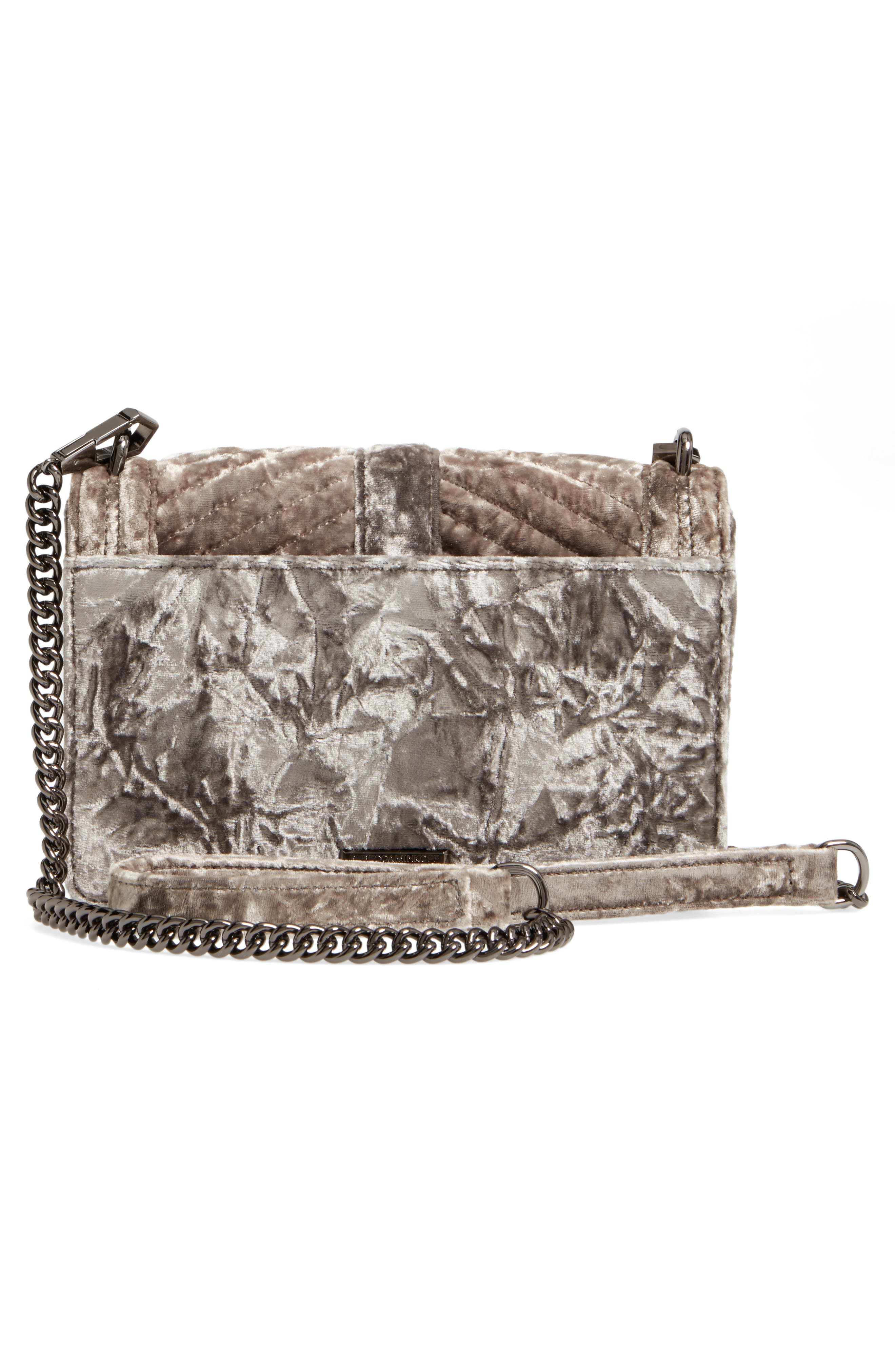 'Velvet Love' Crossbody Bag,                             Alternate thumbnail 2, color,                             Grey
