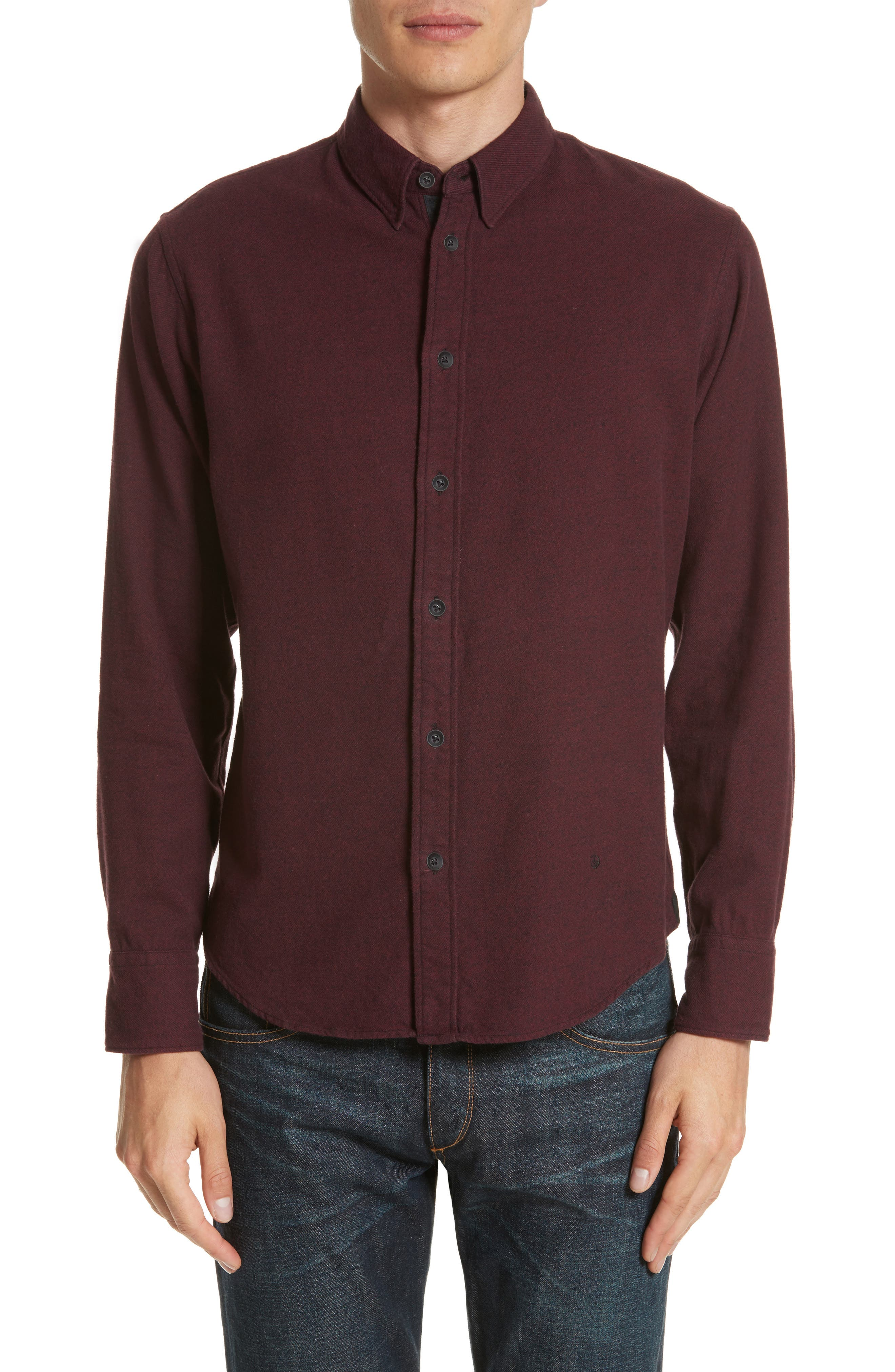 Fit 2 Base Woven Shirt,                         Main,                         color, Burgundy