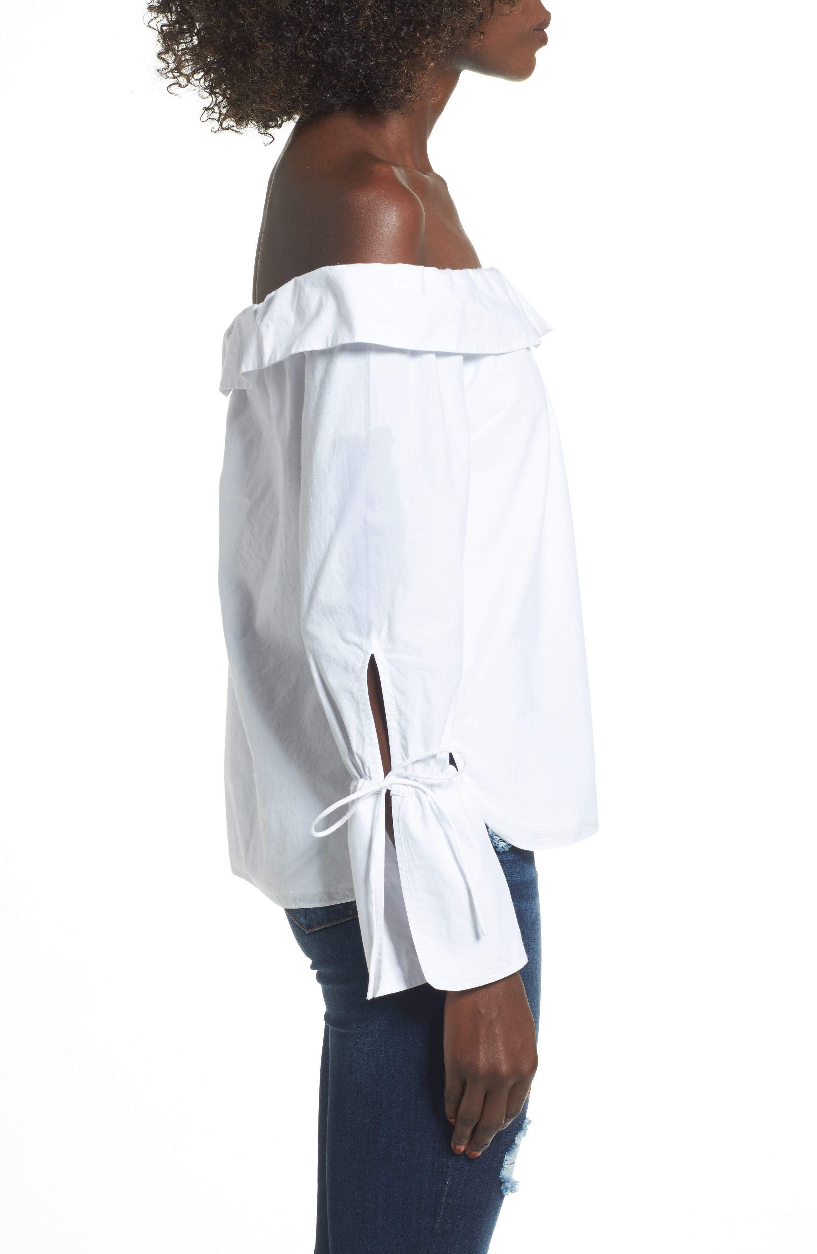 Alternate Image 3  - L'Academie Aria Off the Shoulder Blouse