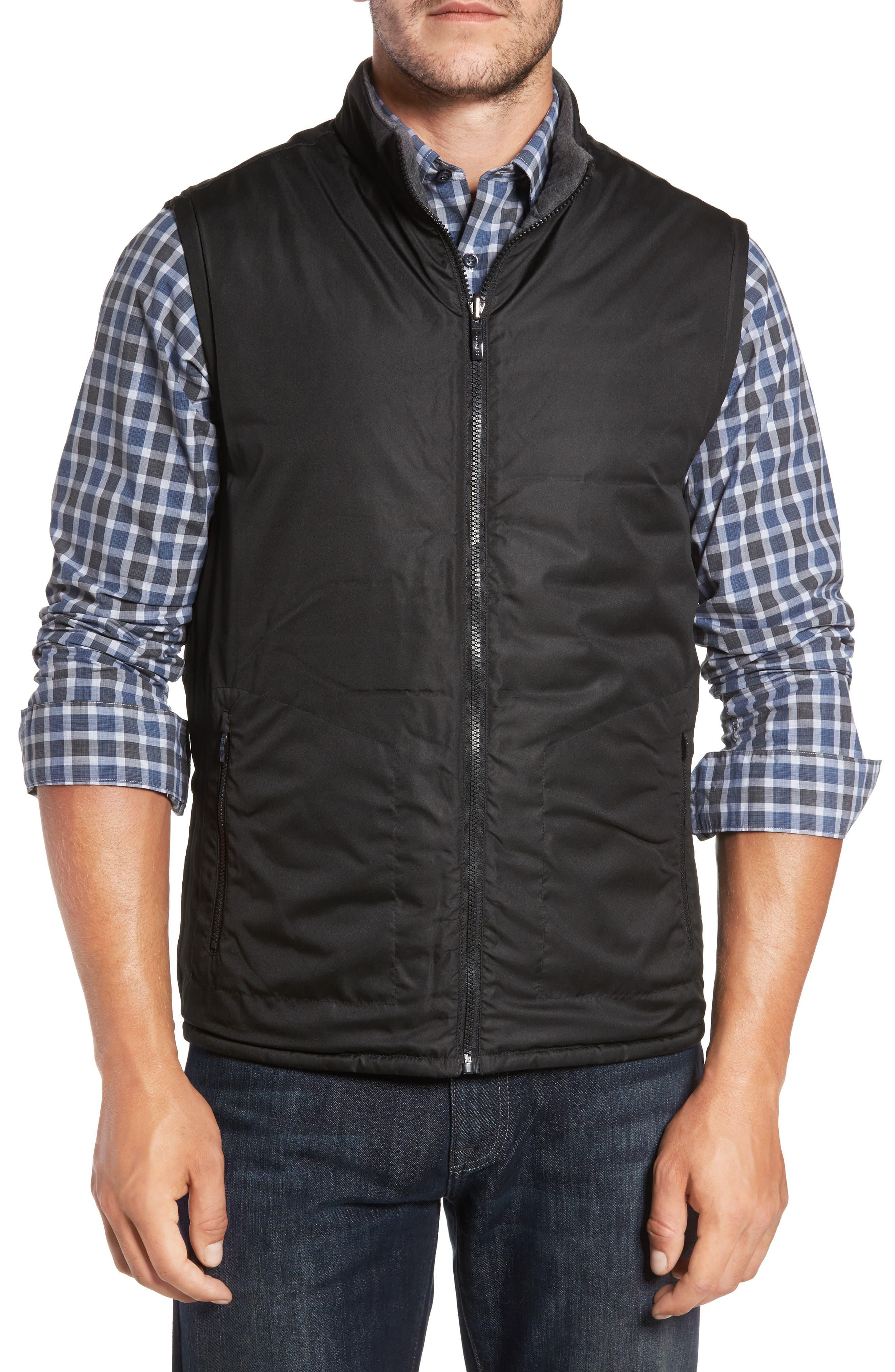 Gallagher Reversible Vest,                             Alternate thumbnail 2, color,                             Charcoal