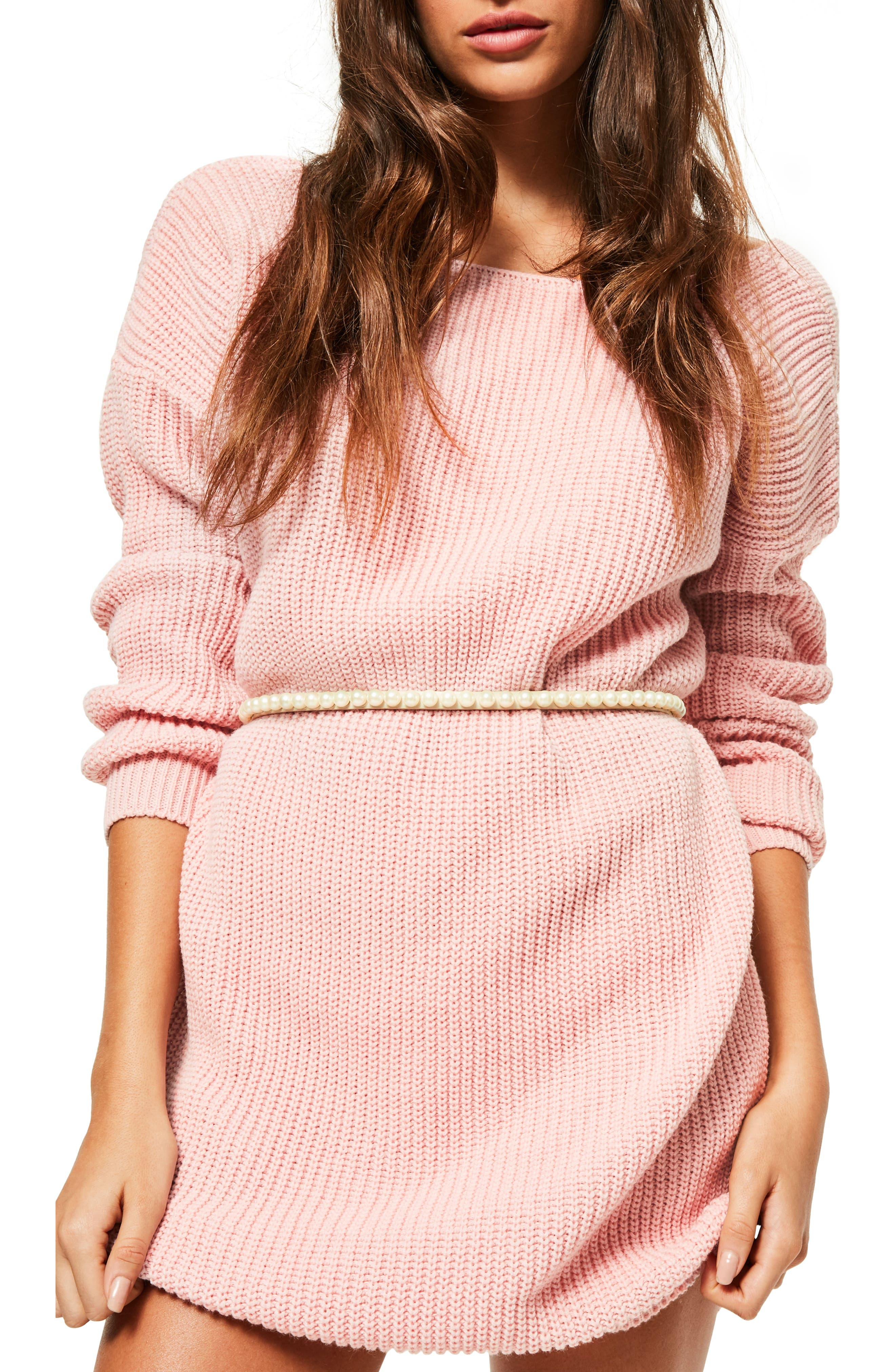 Missguided Faux Pearl Studded Belt