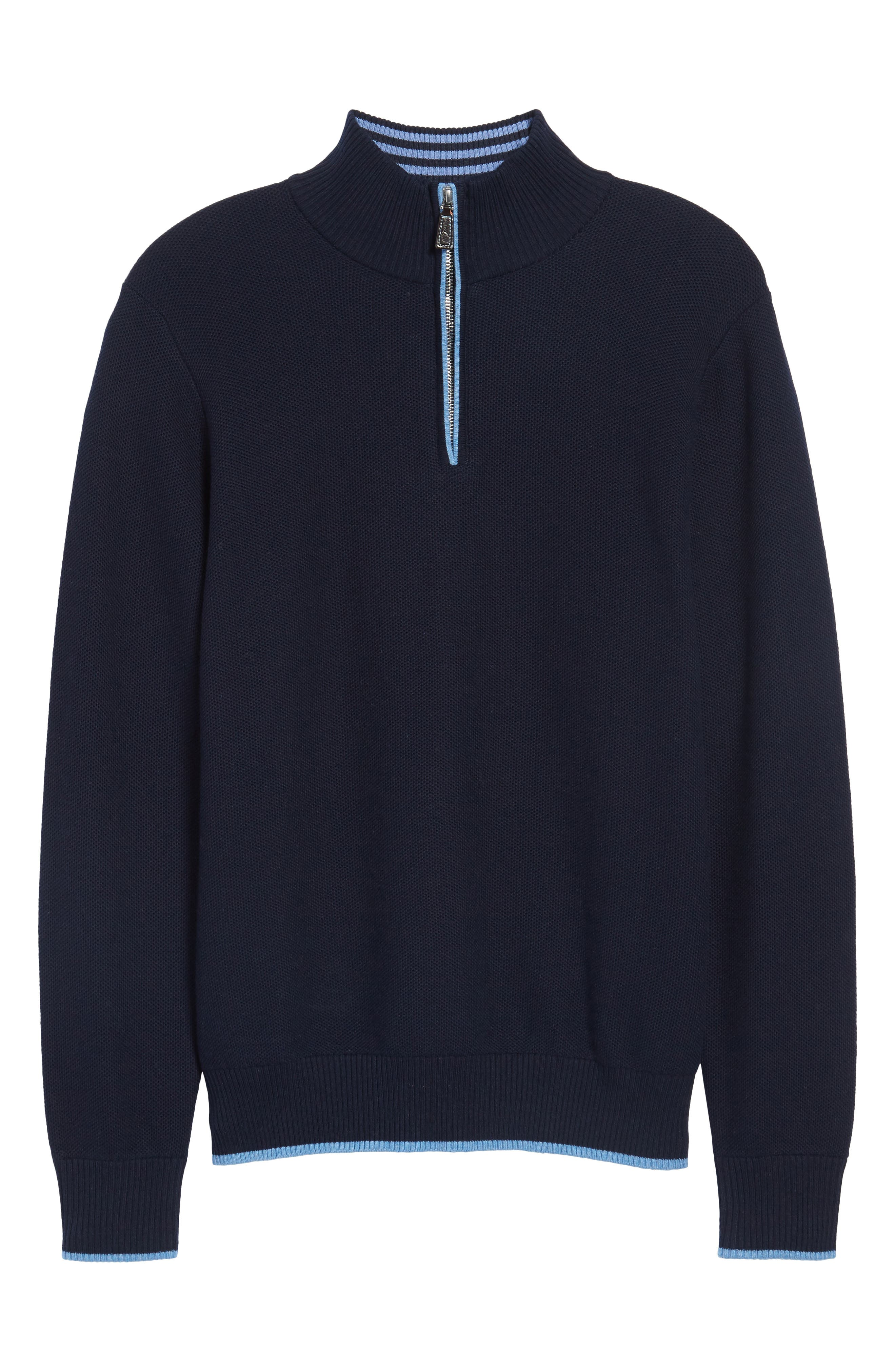 Alternate Image 6  - TailorByrd Killona Tipped Quarter Zip Sweater