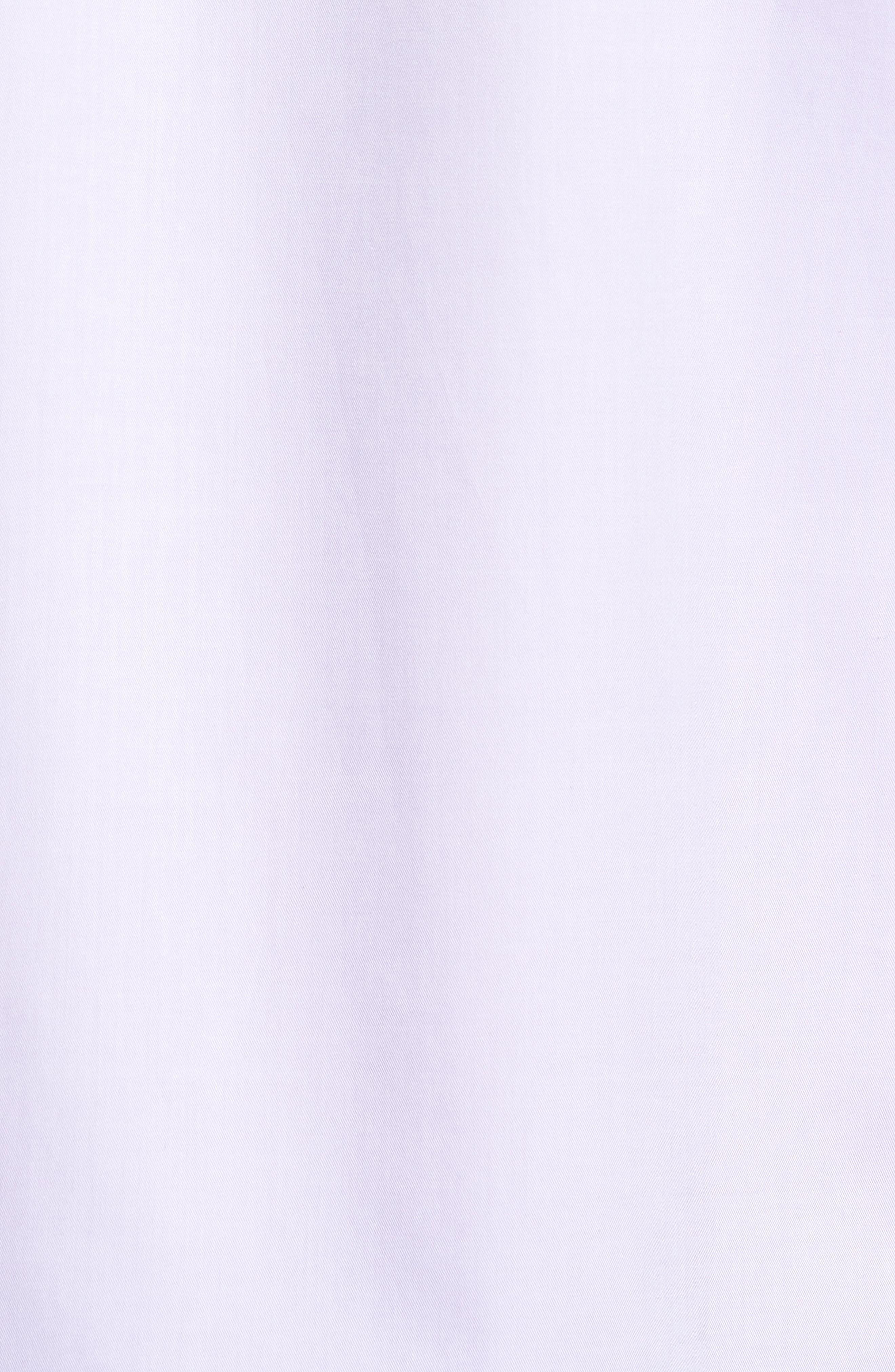 Trim Fit Solid Pastel Sport Shirt,                             Alternate thumbnail 5, color,                             Lavender