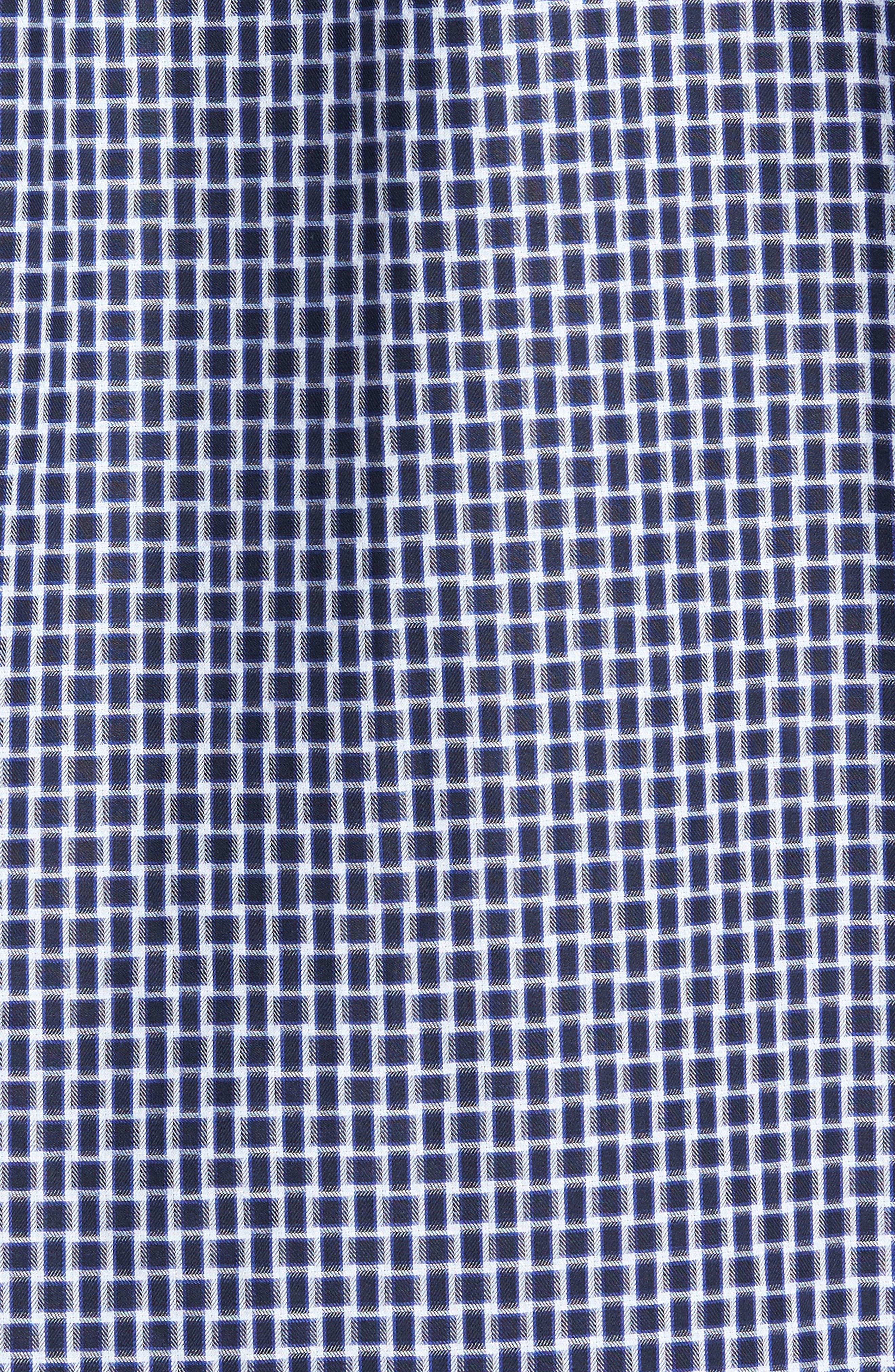 Classic Fit Geo Patterned Sport Shirt,                             Alternate thumbnail 5, color,                             Navy