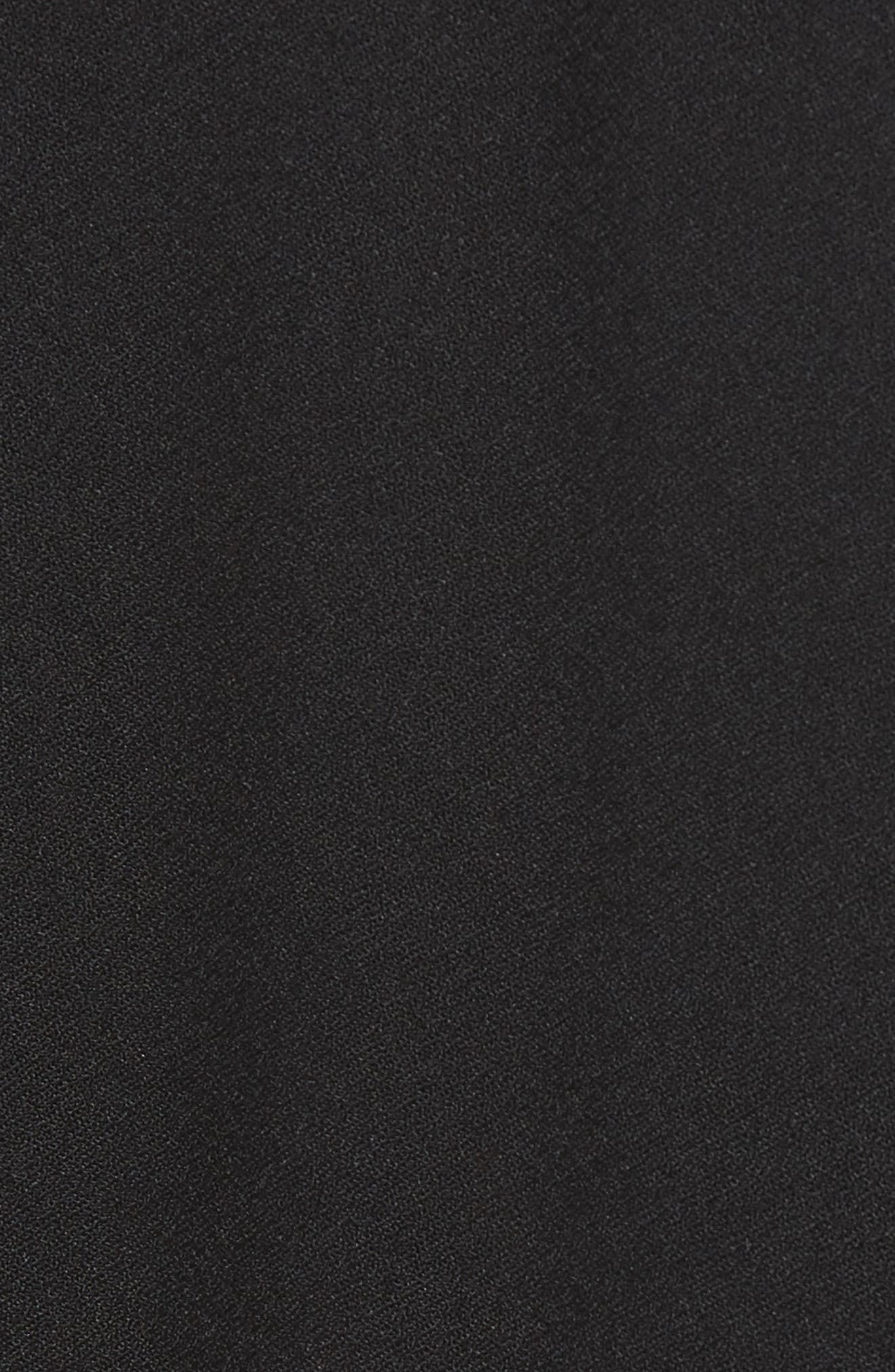 Wide Cuff Blazer,                             Alternate thumbnail 5, color,                             Black