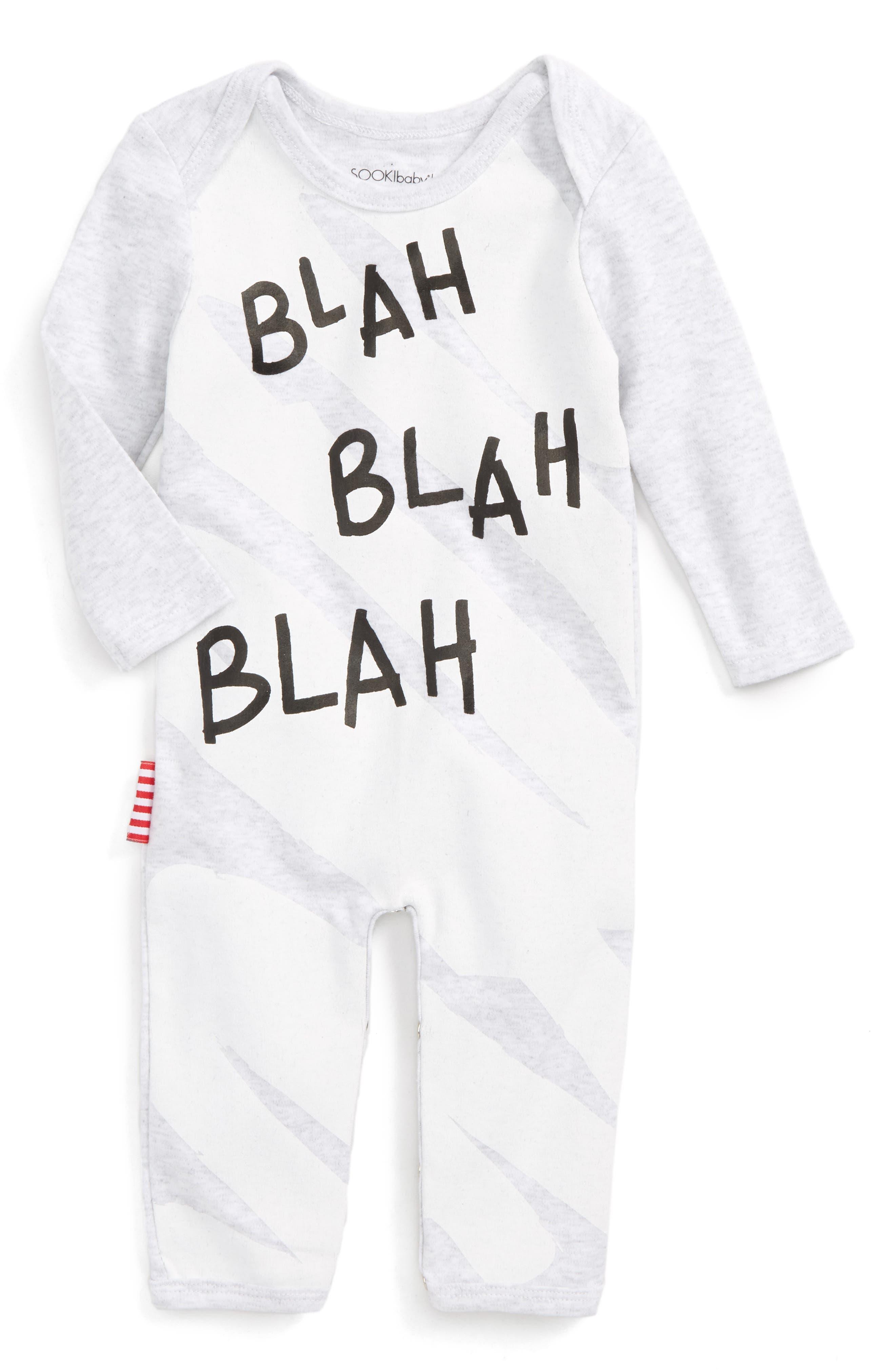 Main Image - SOOKIbaby Blah Blah Blah Romper (Baby)