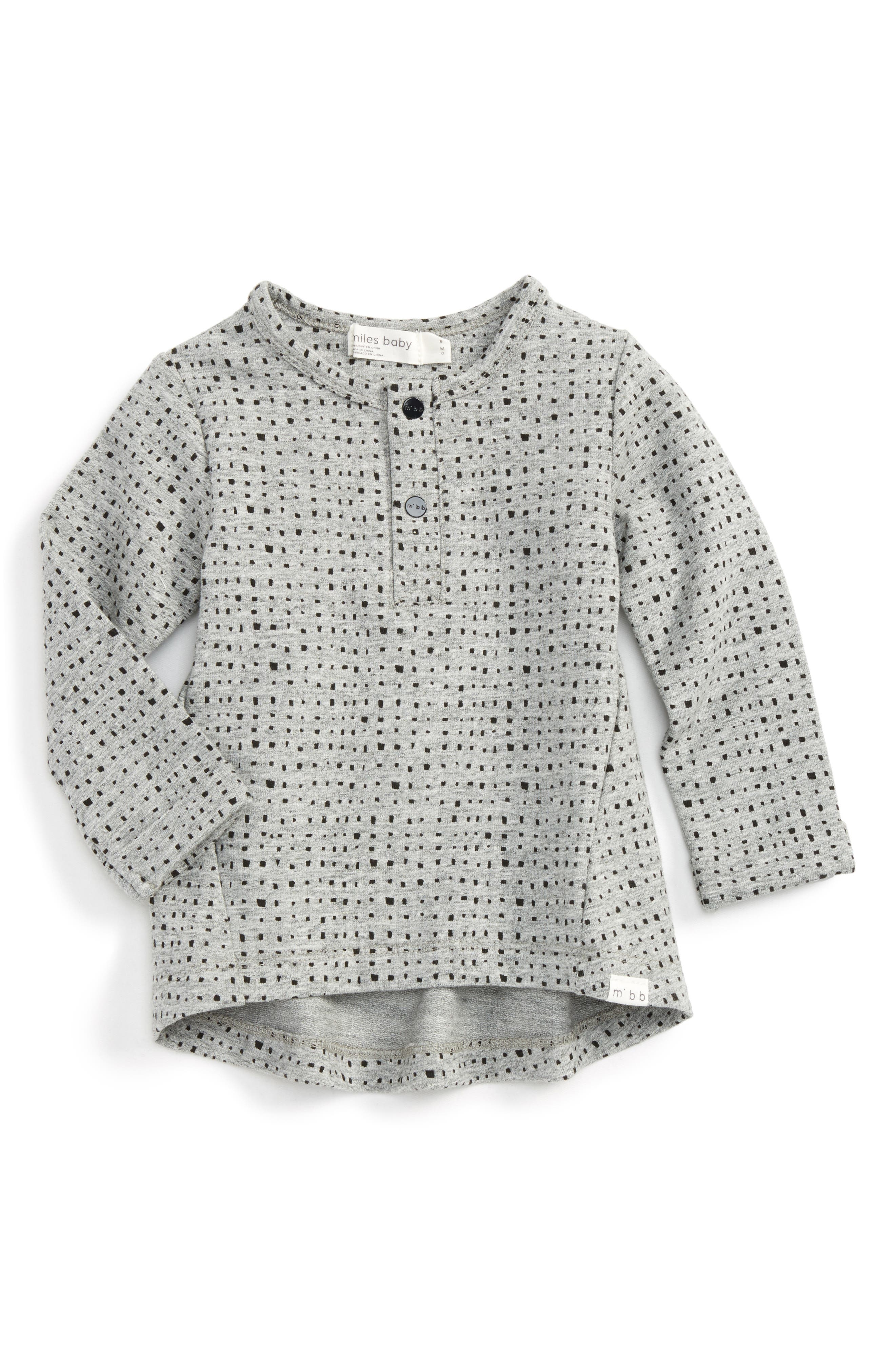 Knit Tunic,                         Main,                         color, Heather Grey