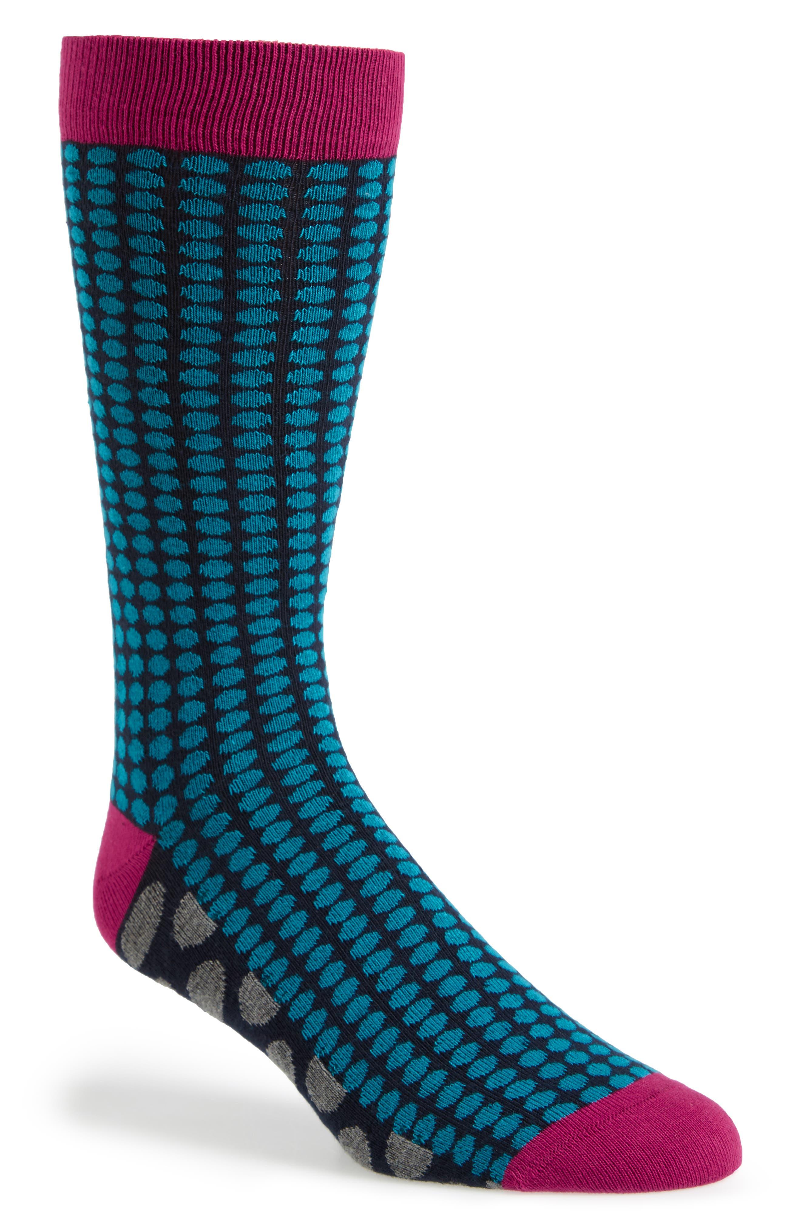 Ted Baker London Spot Organic Cotton Blend Socks