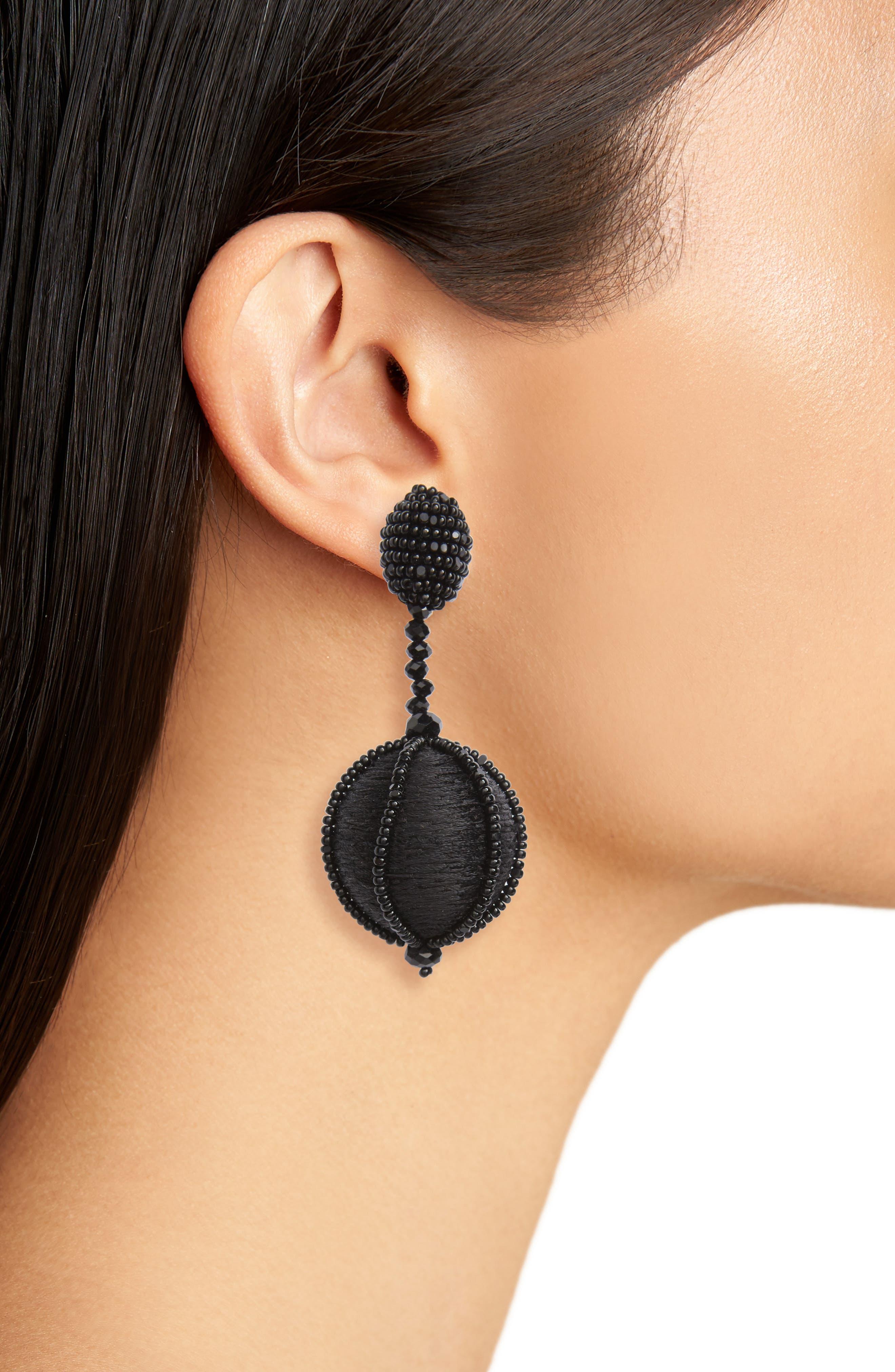 Alternate Image 2  - Oscar de la Renta Dropped Ball Clip-On Earrings