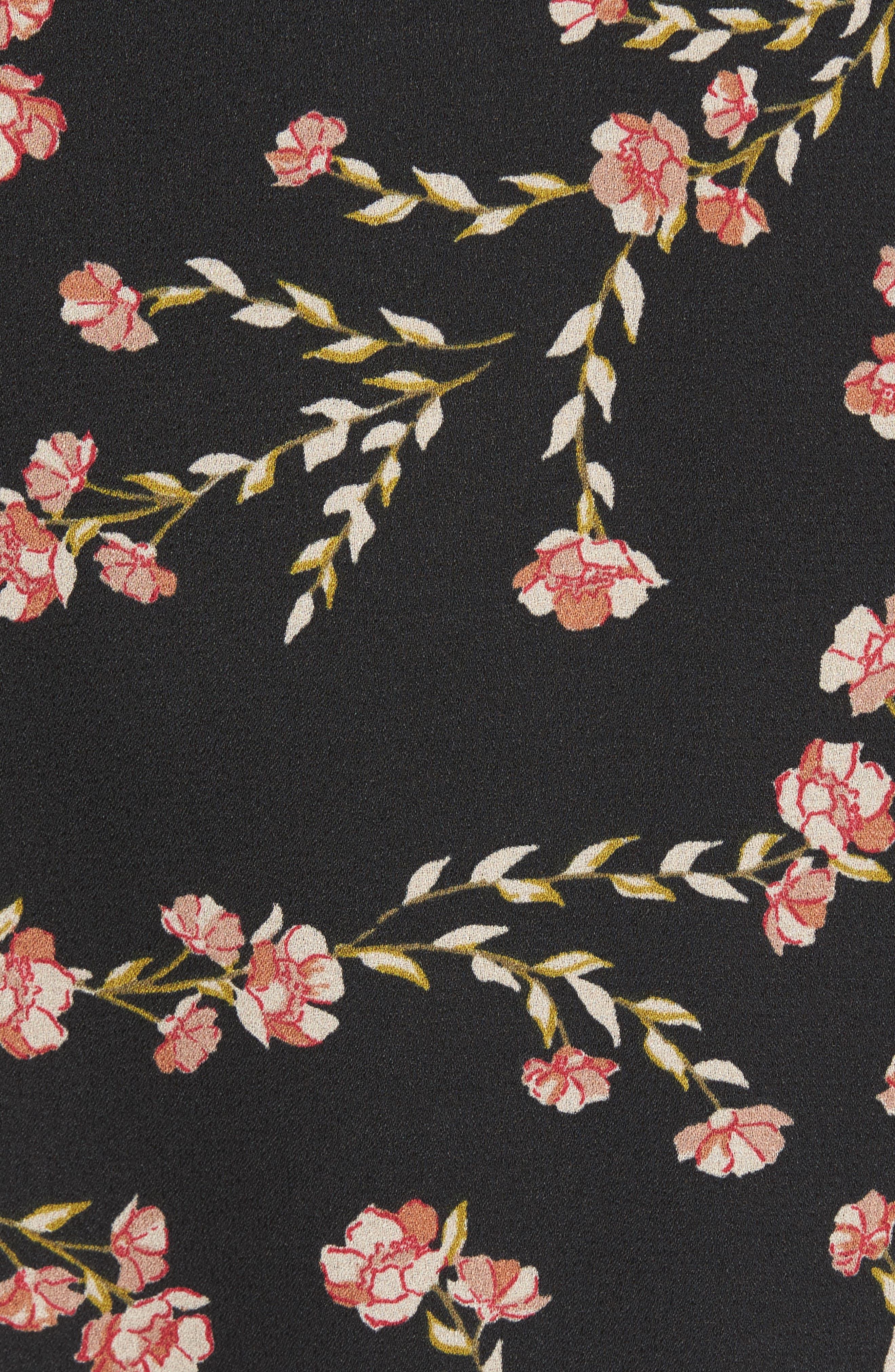Woven Minidress,                             Alternate thumbnail 6, color,                             Black