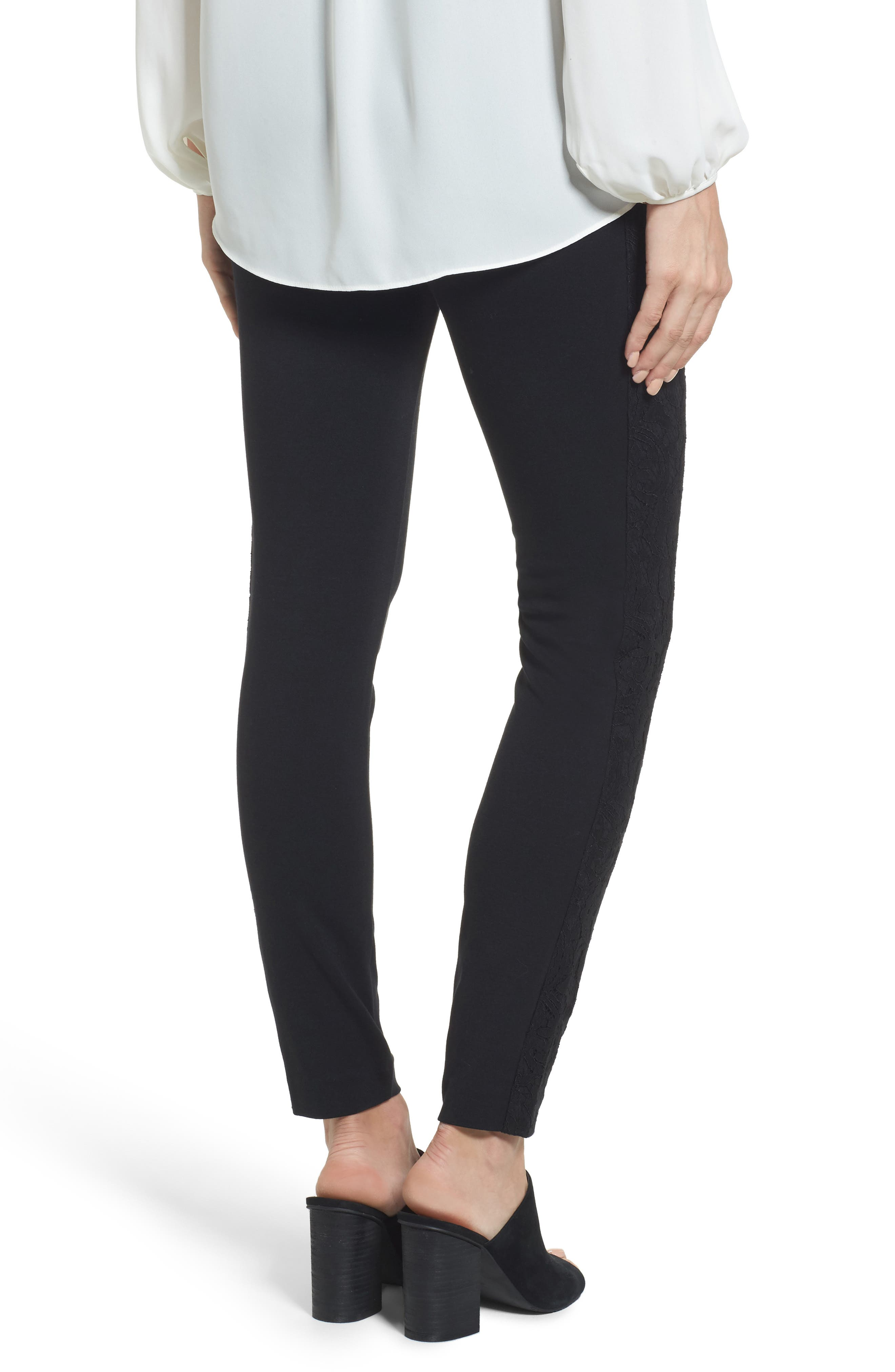 Alternate Image 2  - MICHAEL Michael Kors Lace Side Leggings