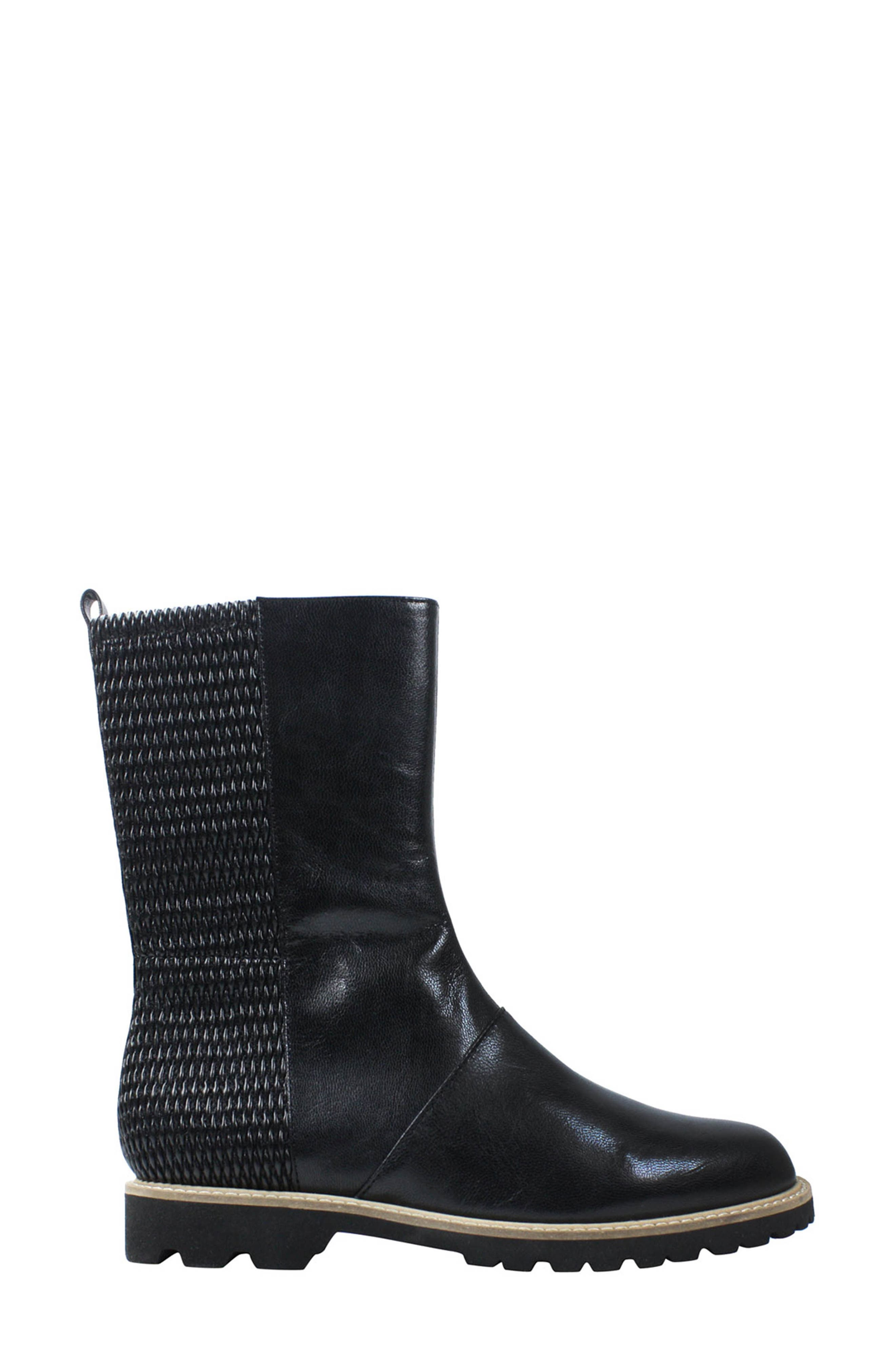 Reyney Boot,                             Alternate thumbnail 3, color,                             Black Leather