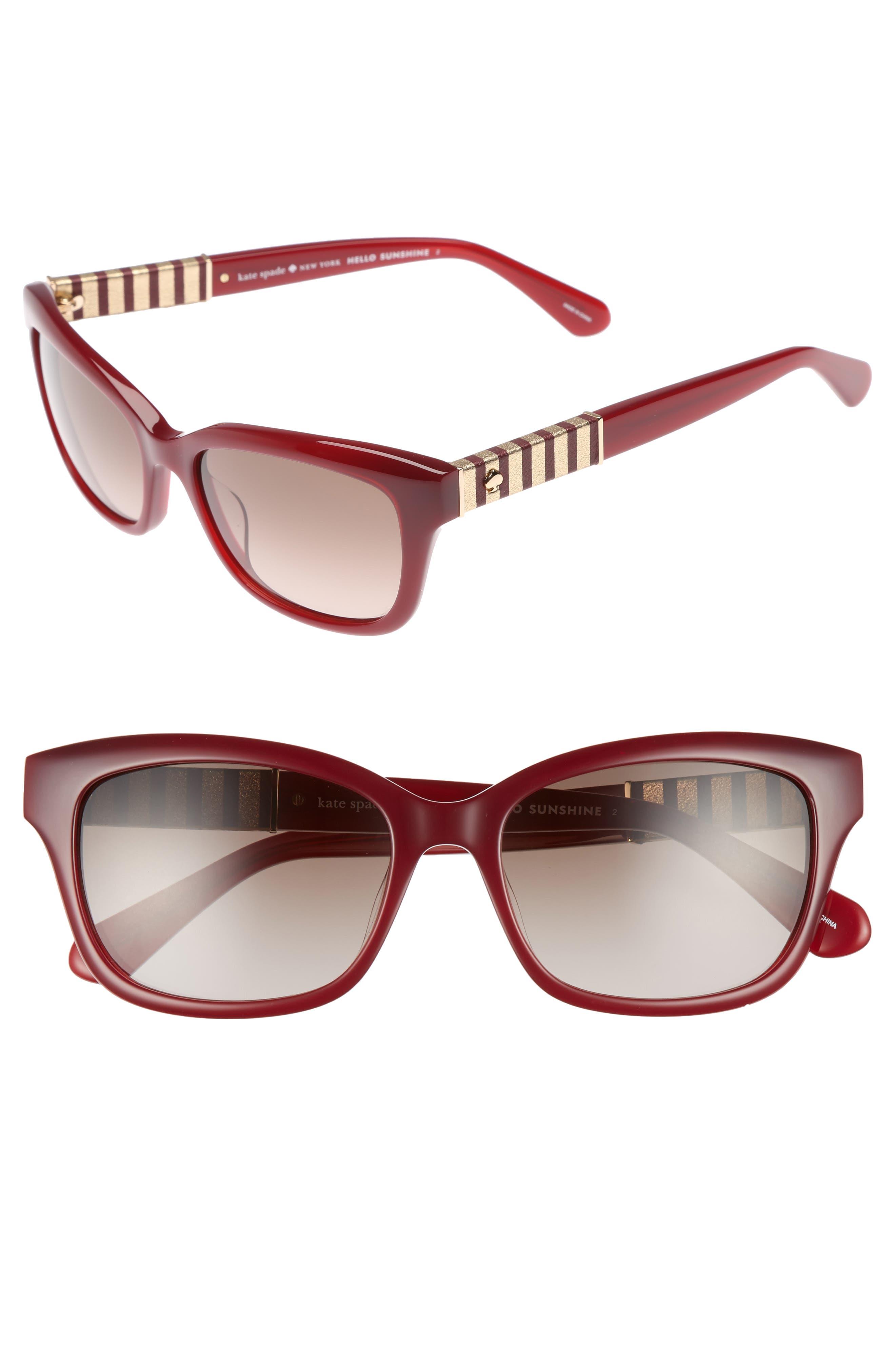kate spade new york johanna 2 53mm gradient sunglasses