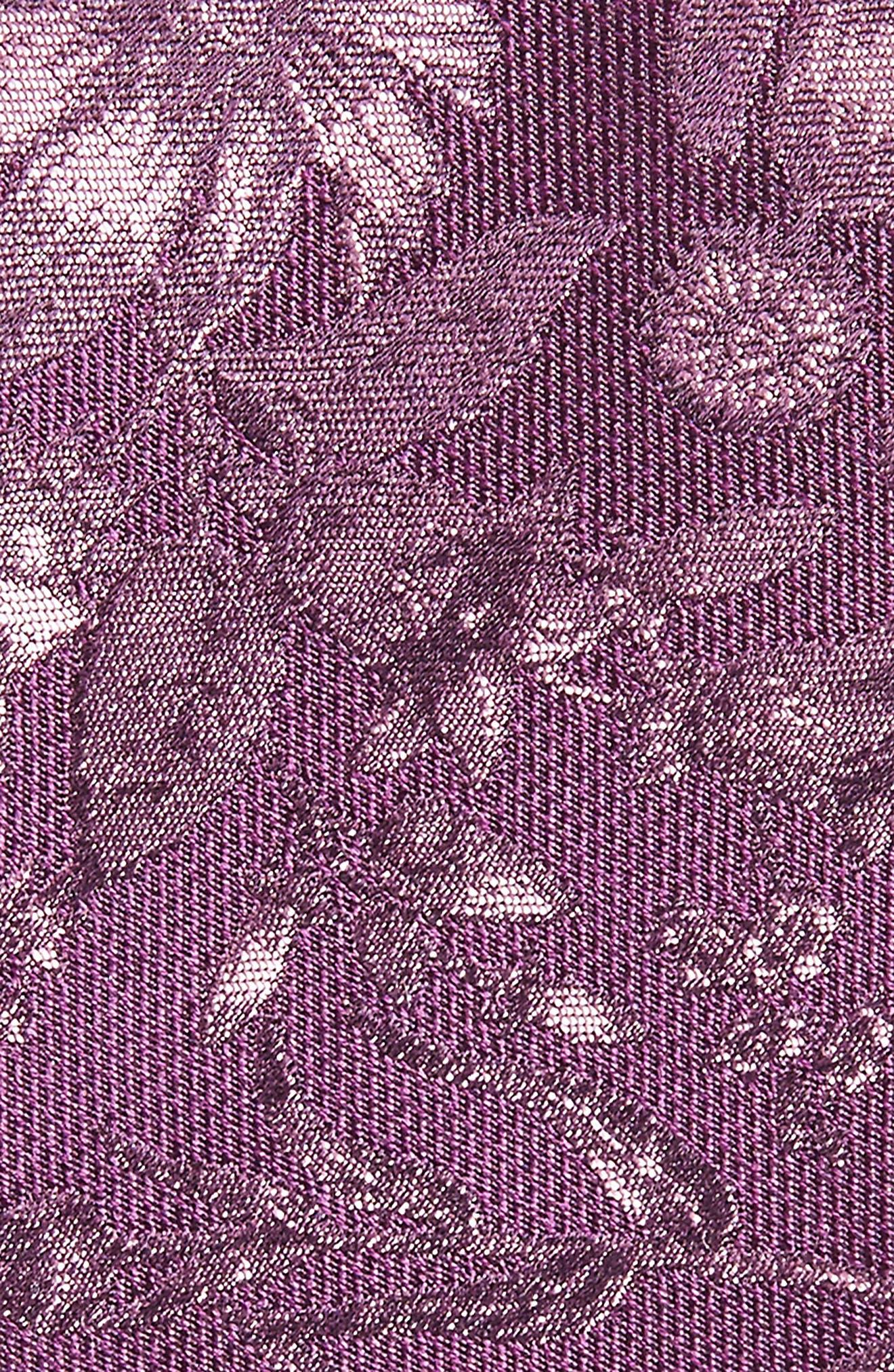 Fletcher Floral Print Silk & Cotton Tie,                             Alternate thumbnail 2, color,                             Purple