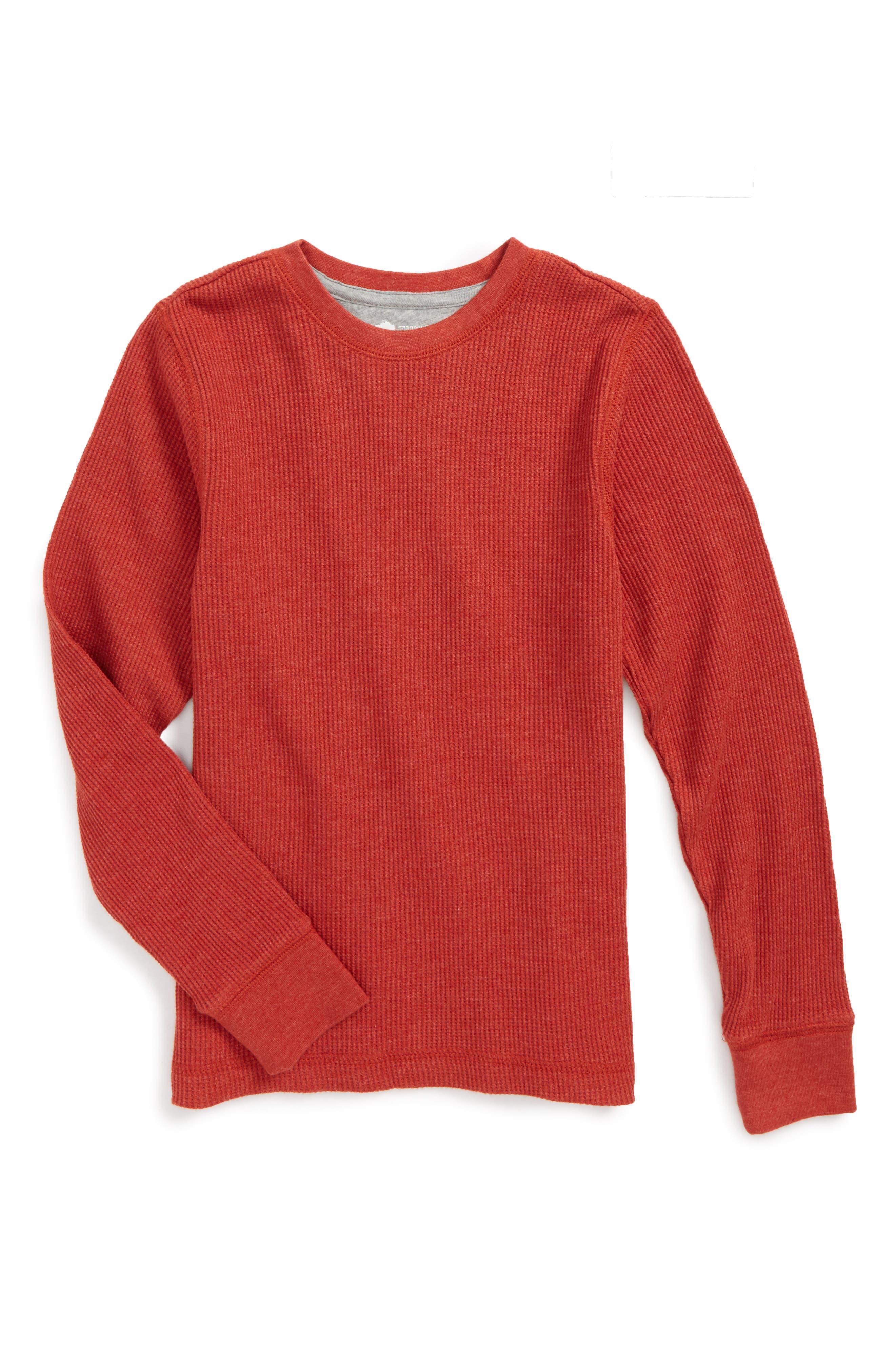Long Sleeve Thermal T-Shirt,                         Main,                         color, Rust Bossa Nova