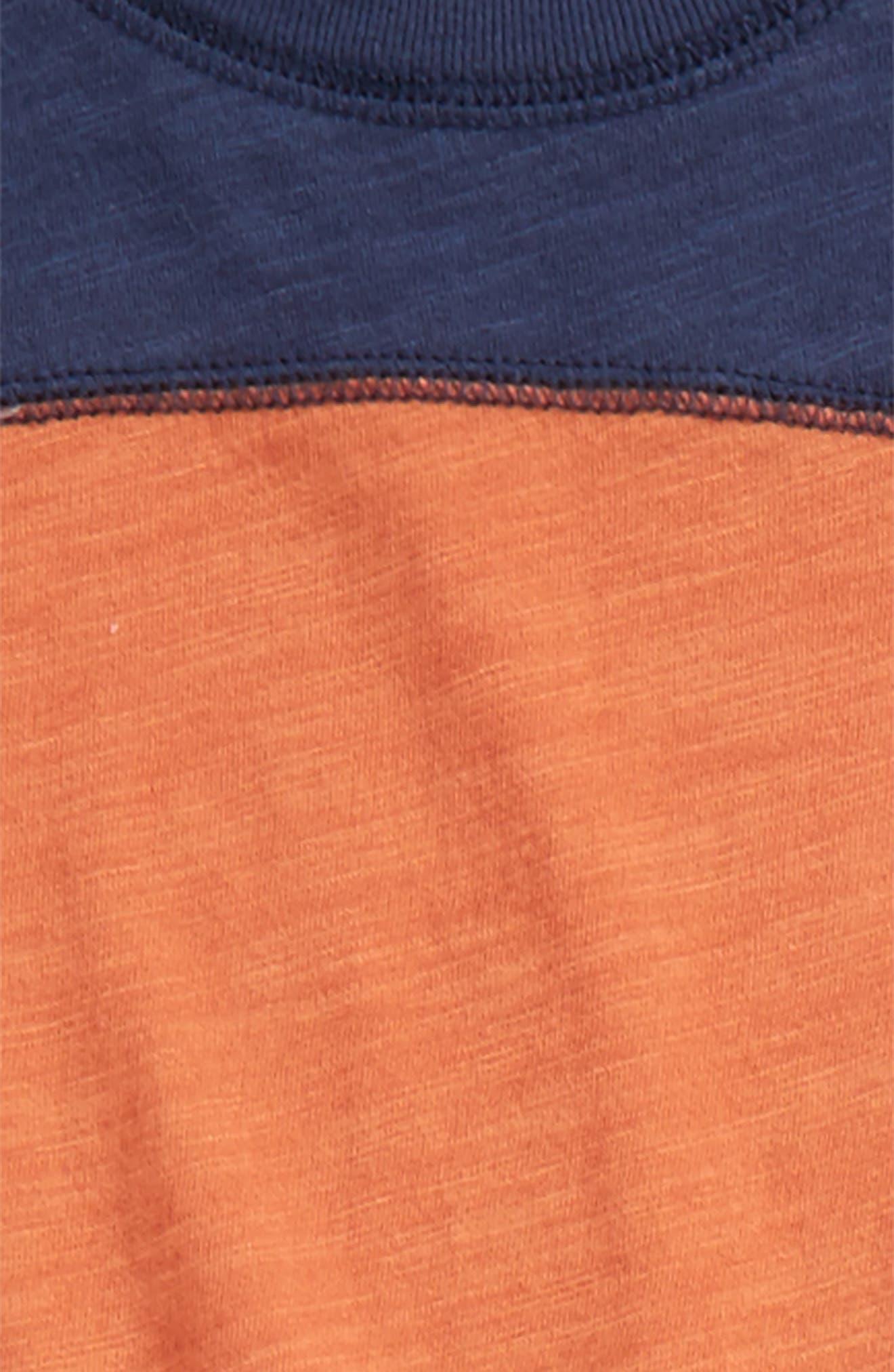 Long Sleeve T-Shirt & Jogger Pants,                             Alternate thumbnail 2, color,                             Orange