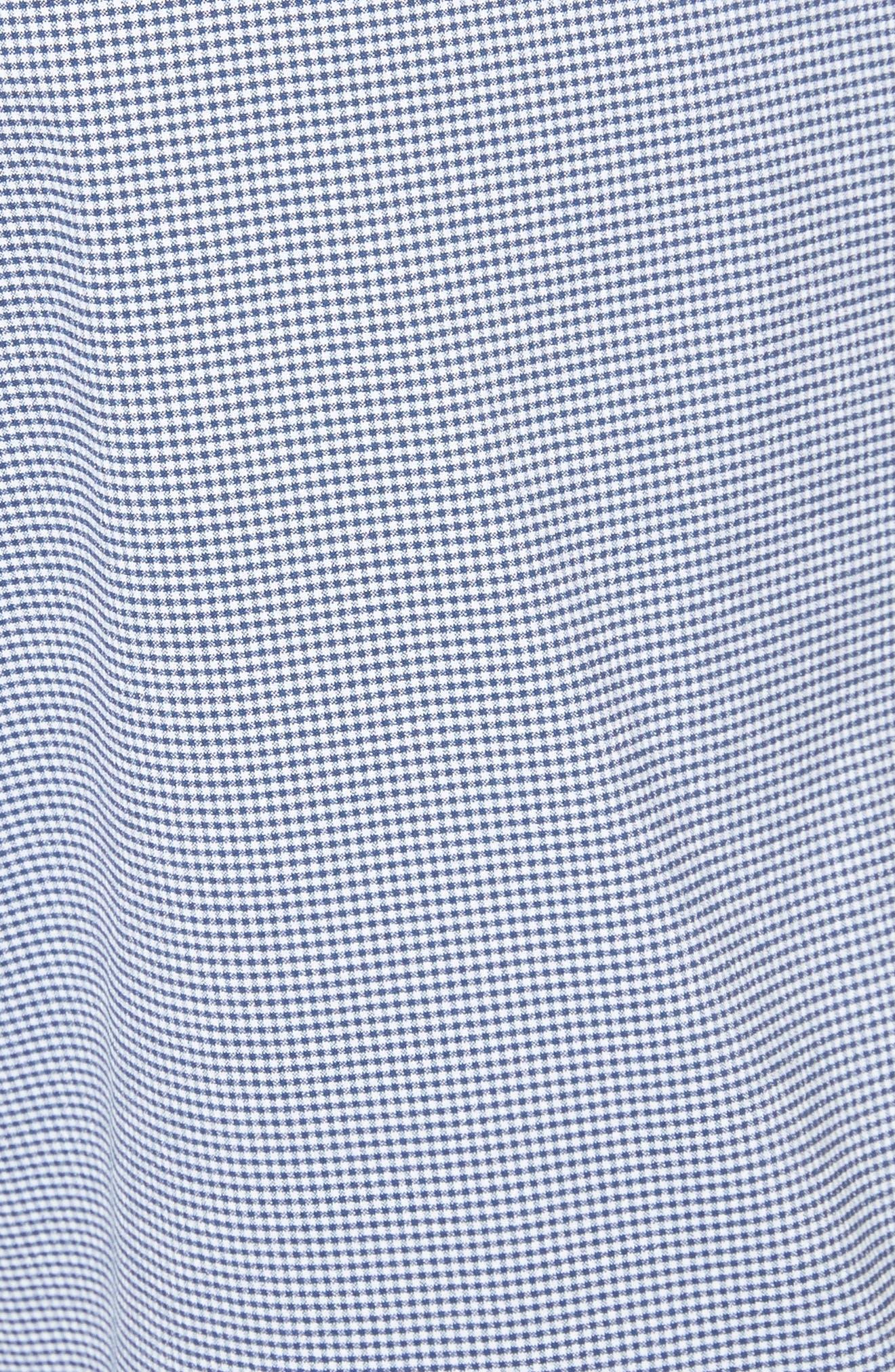 Calder Gingham Board Shorts,                             Alternate thumbnail 5, color,                             Deep Navy/White