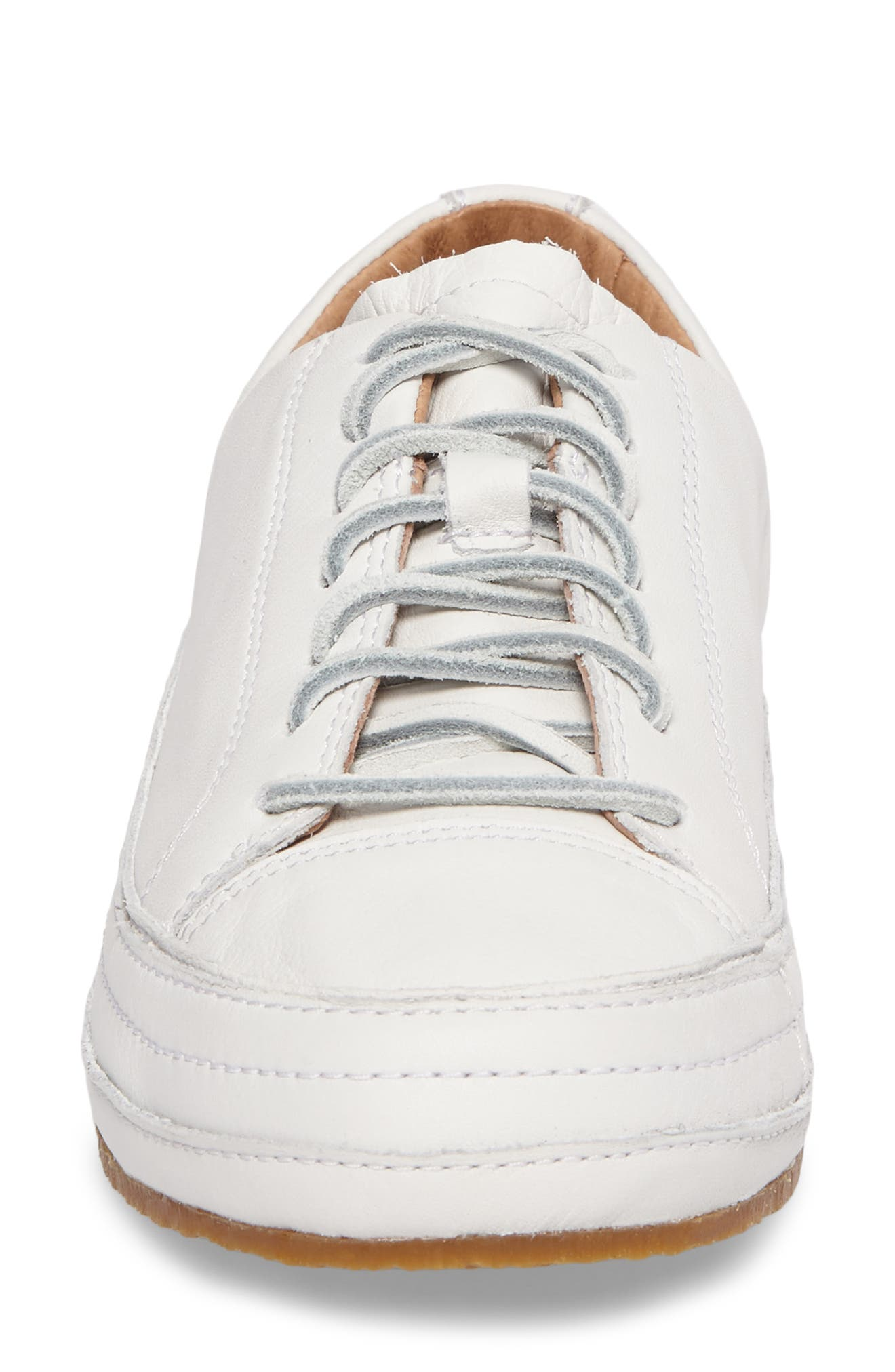 Blake Sneaker,                             Alternate thumbnail 4, color,                             White Leather