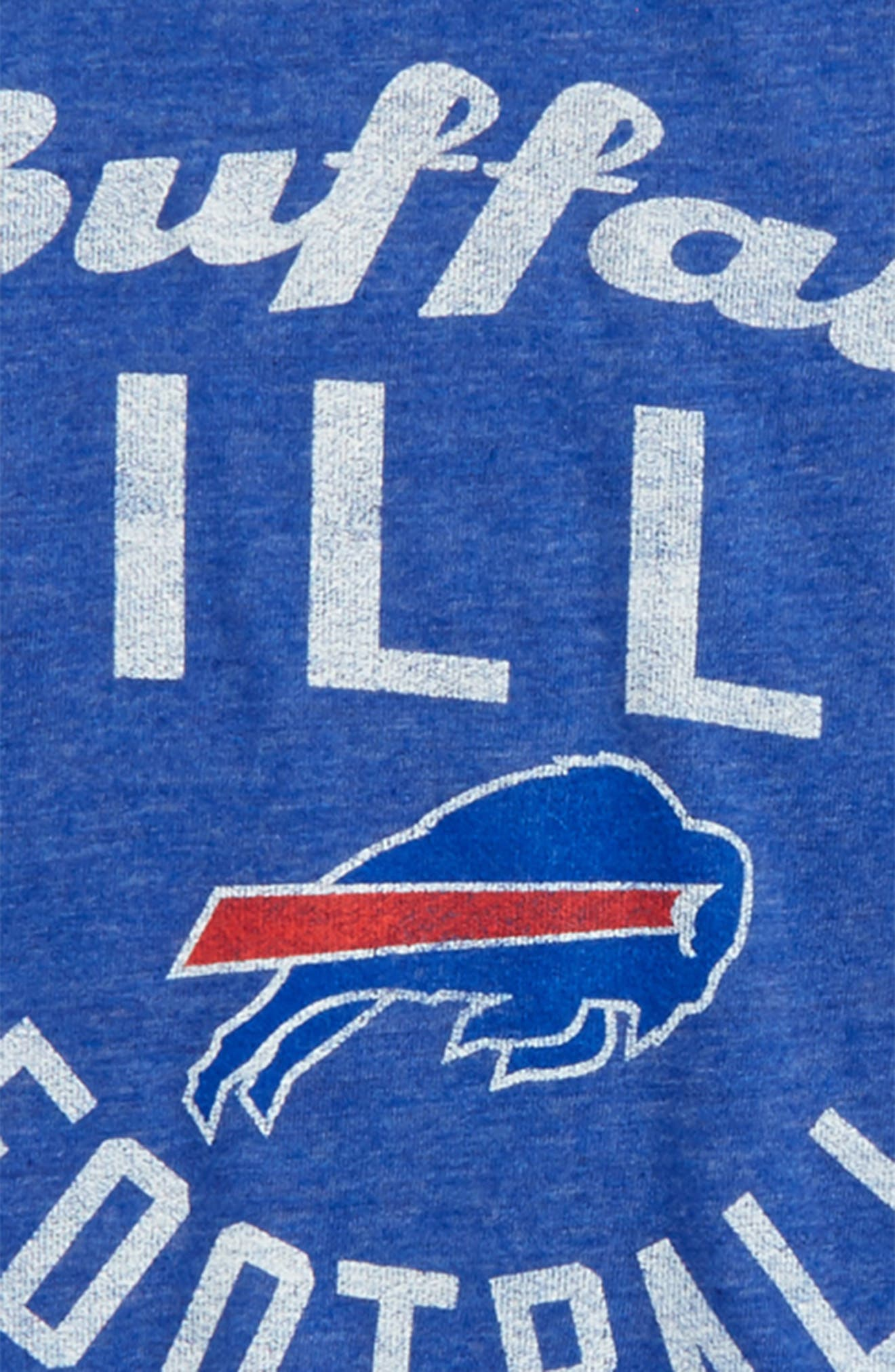 NFL Buffalo Bills Distressed Logo T-Shirt,                             Alternate thumbnail 2, color,                             Royal