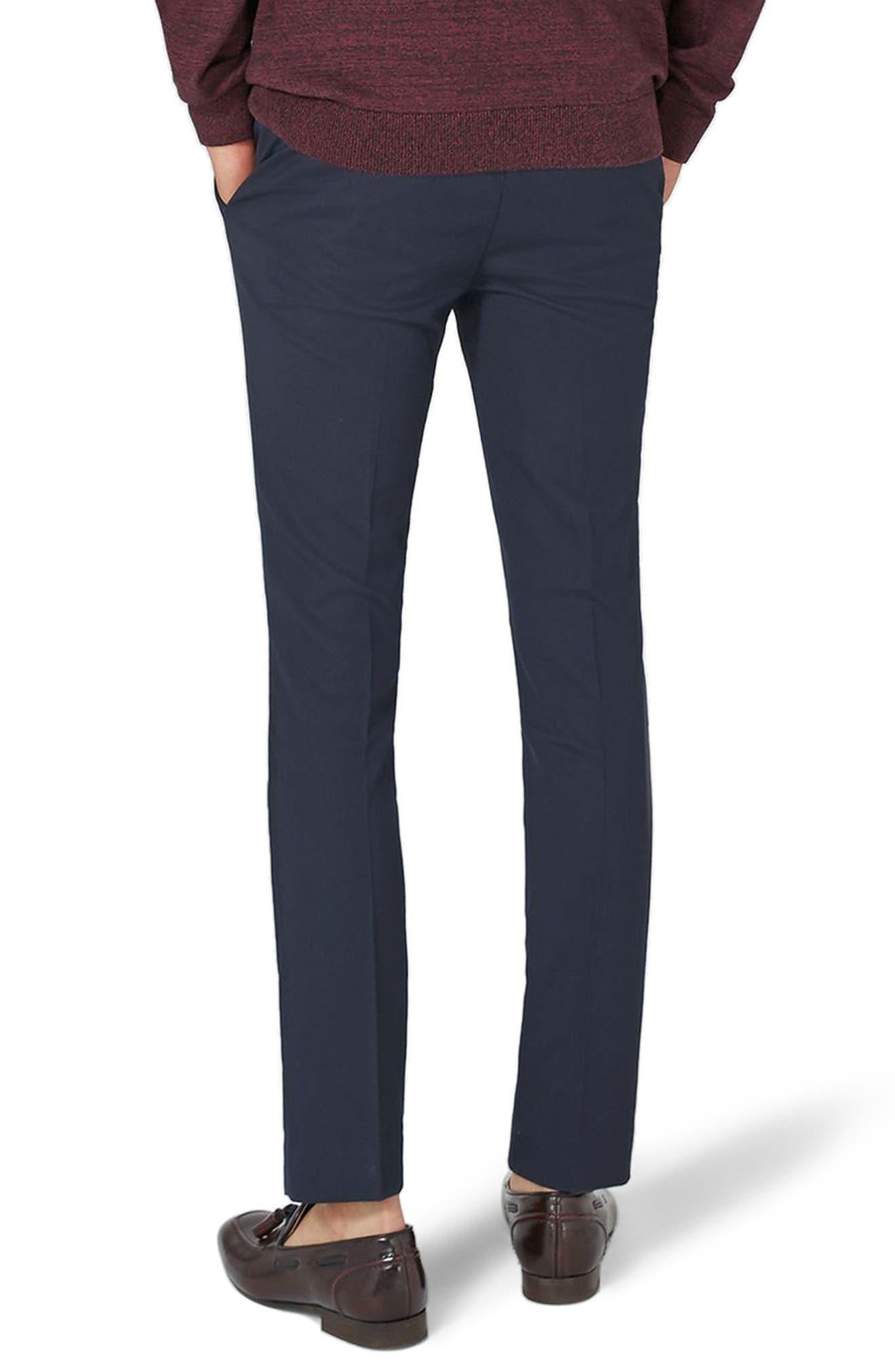 Alternate Image 2  - Topman Ultra Skinny Fit Trousers