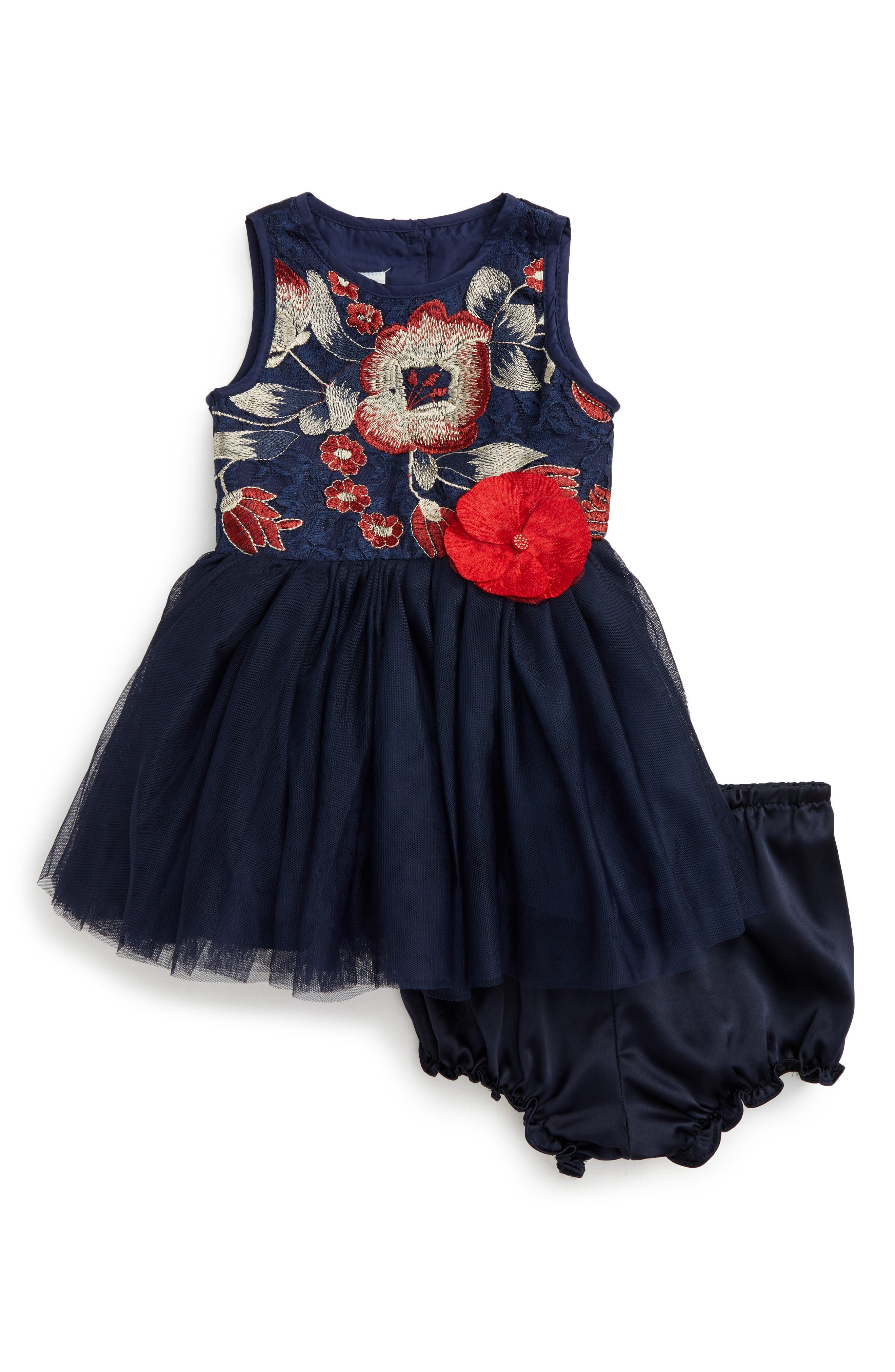 Pippa & Julie Embroidered Tulle Dress (Baby Girls)