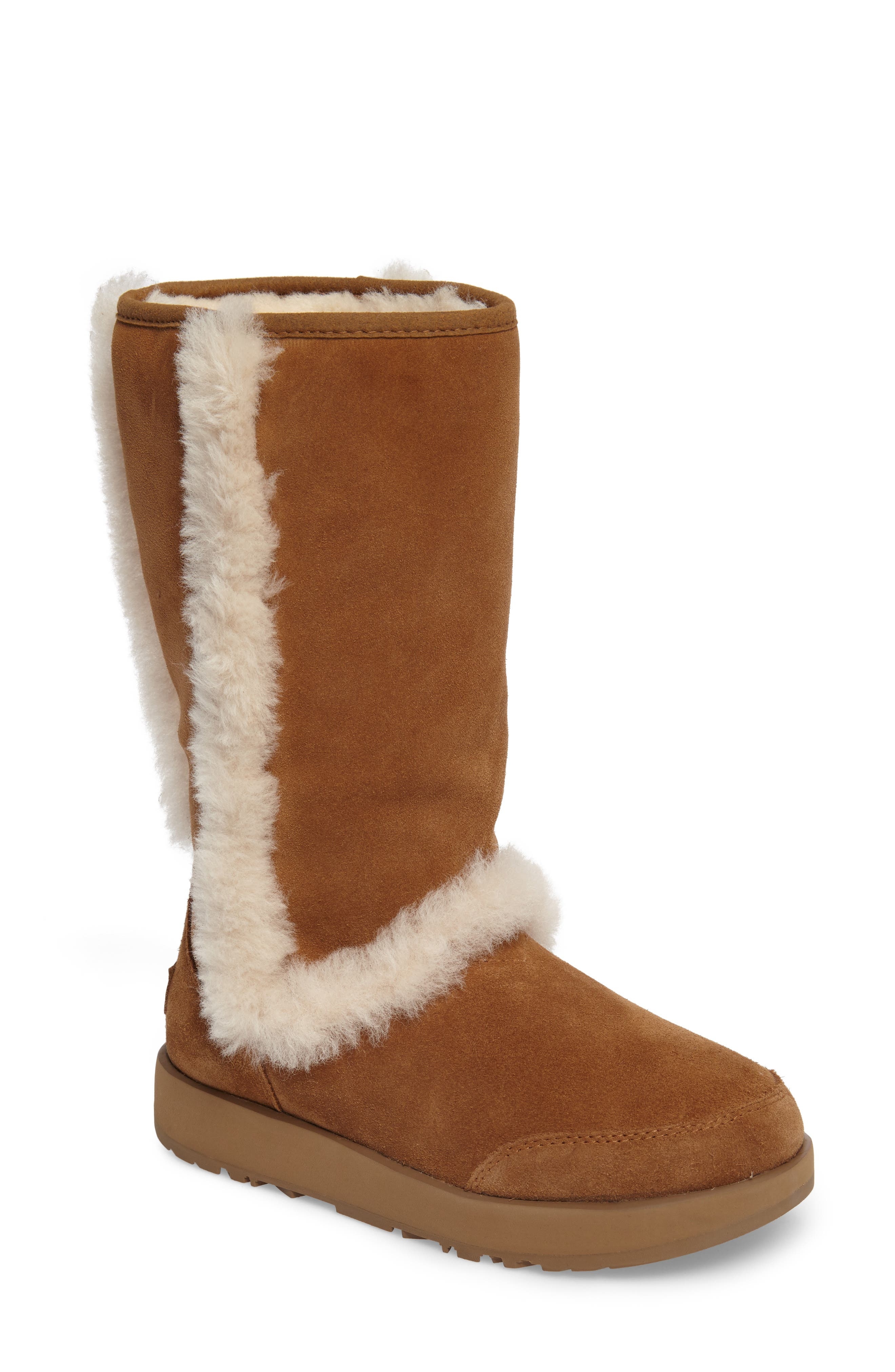 UGG® Sundance Genuine Shearling Waterproof Boot (Women)