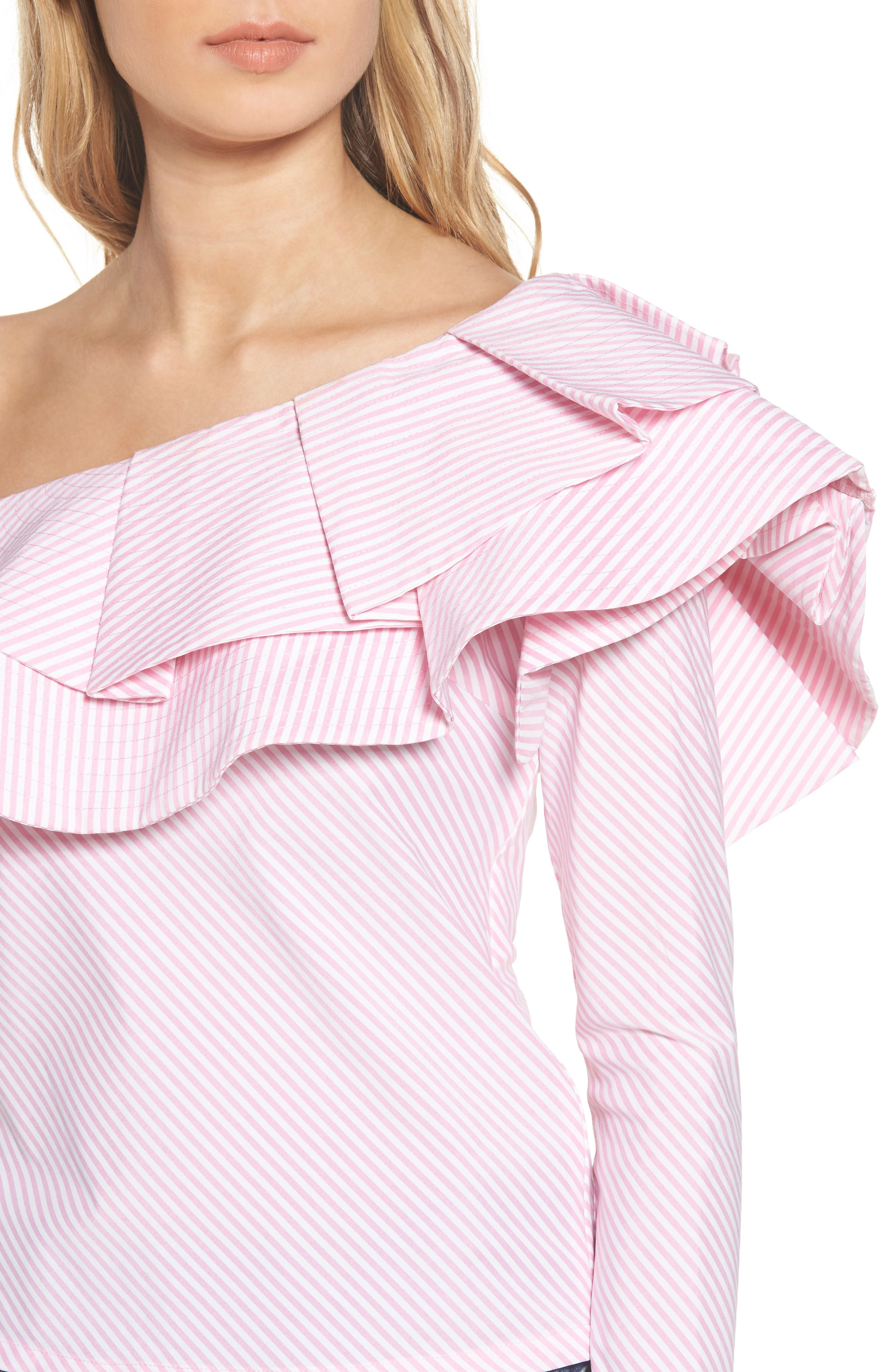 Alternate Image 5  - StyleKeepers Think Fashion One-Shoulder Top