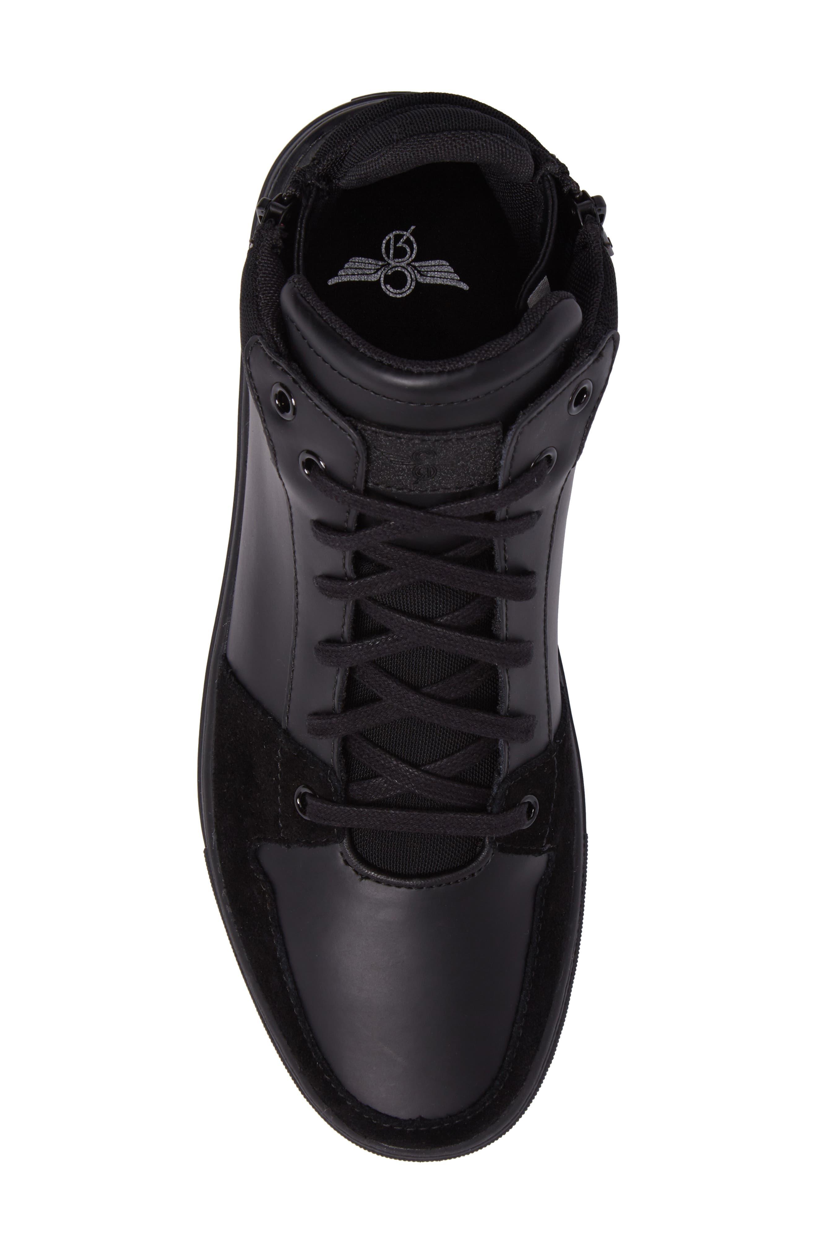 Modena Sneaker,                             Alternate thumbnail 5, color,                             Black Tech