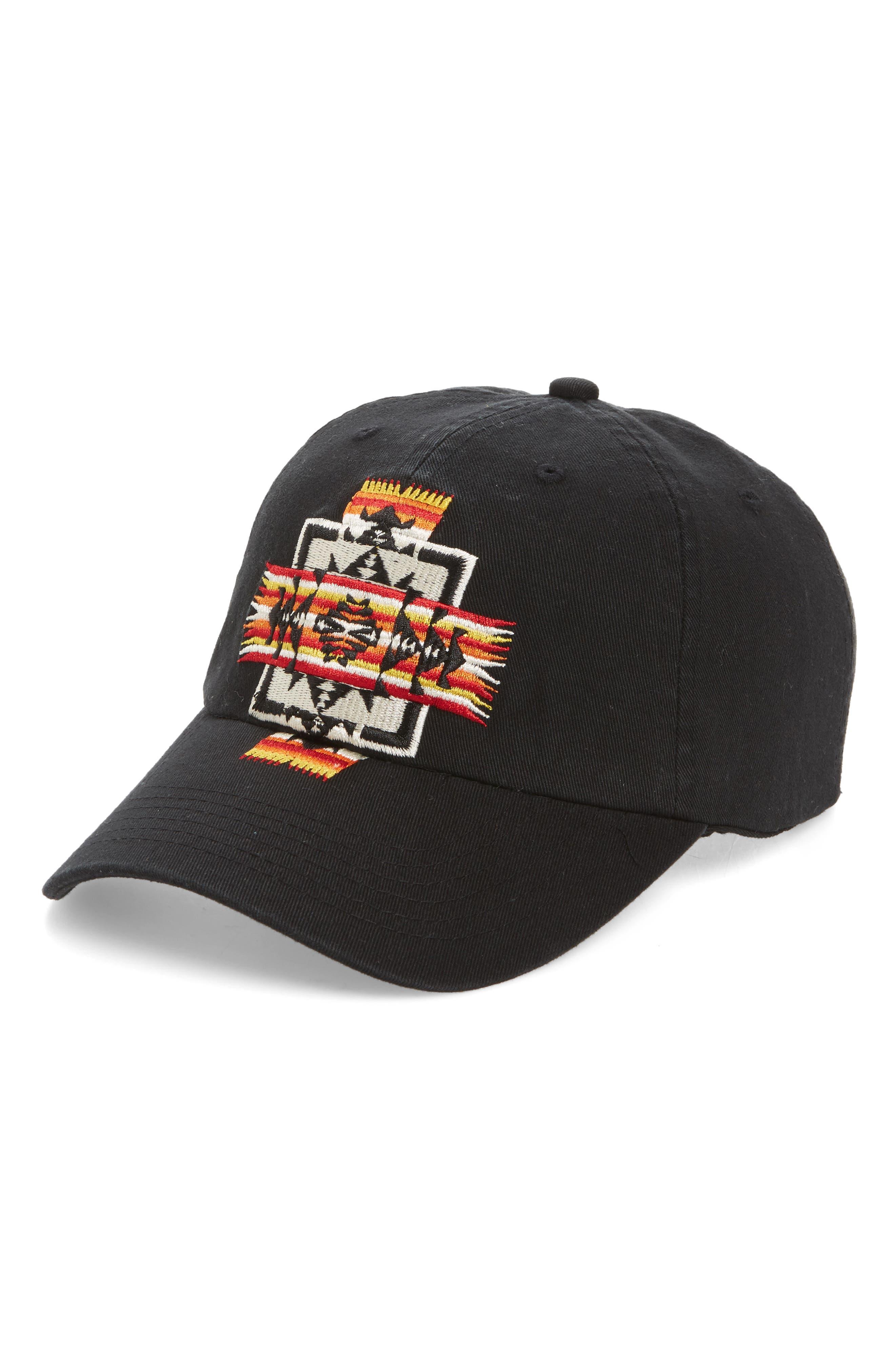 Embroidered Ball Cap,                         Main,                         color, Chief Jo Black
