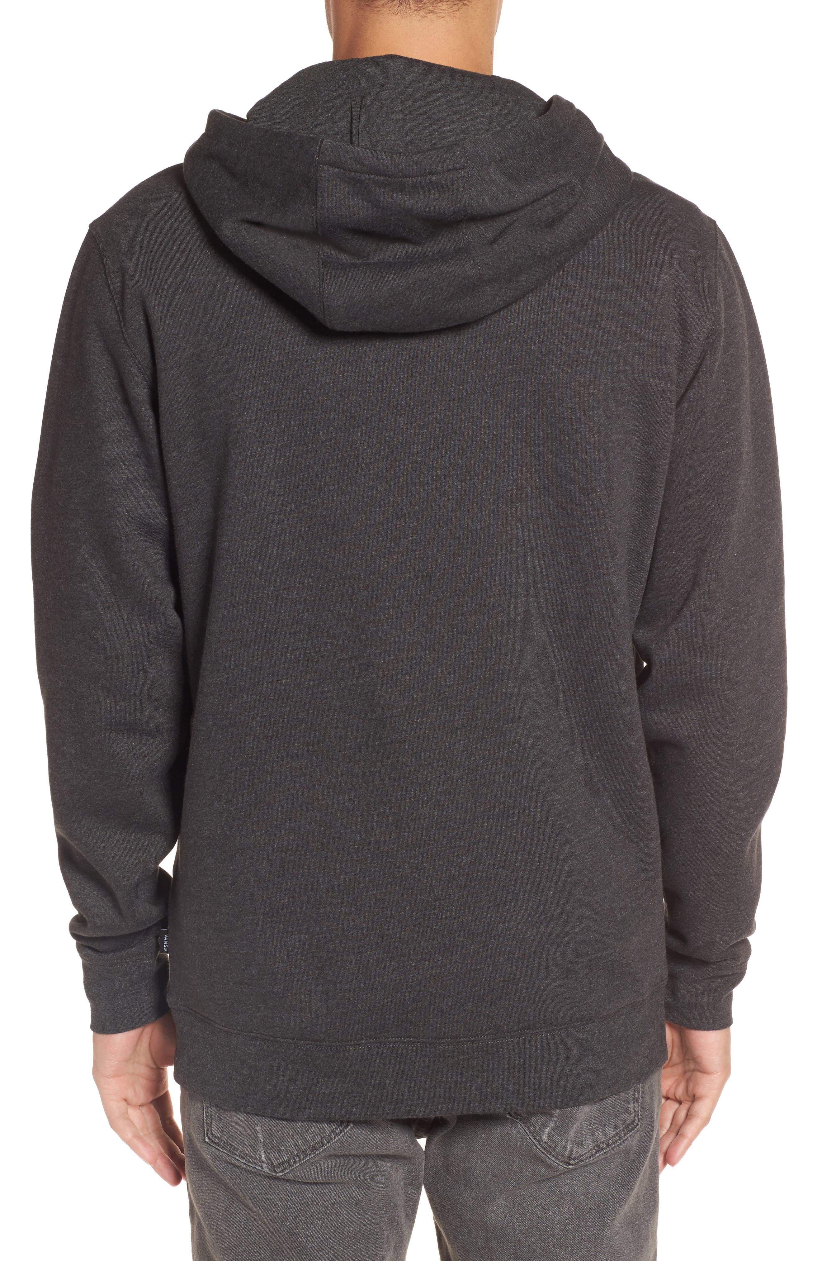 Full Patch Stitch Hoodie,                             Alternate thumbnail 2, color,                             Black Heather