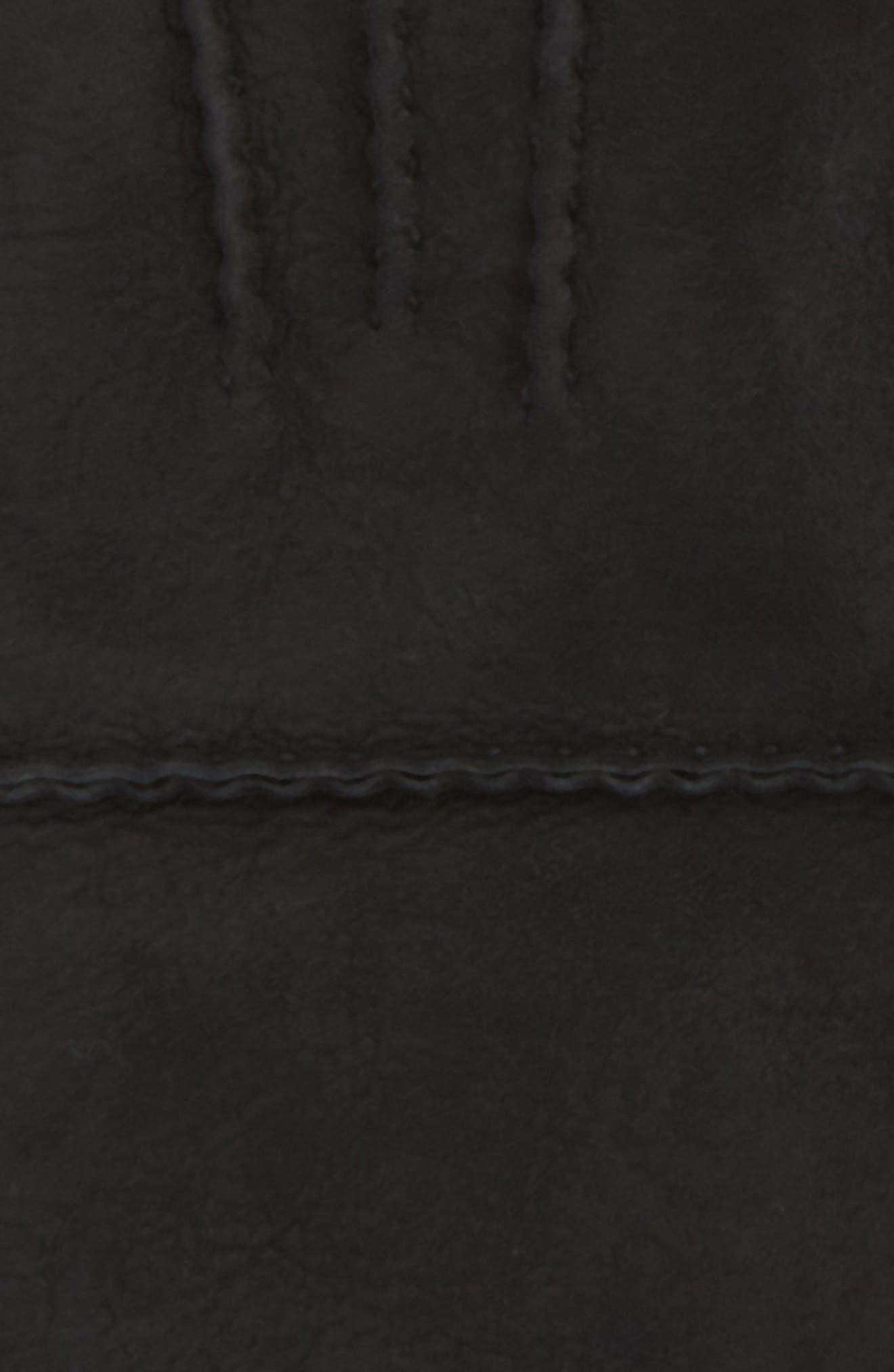 UGG<sup>®</sup> Long Slim Genuine Shearling Gloves,                             Alternate thumbnail 2, color,                             Black