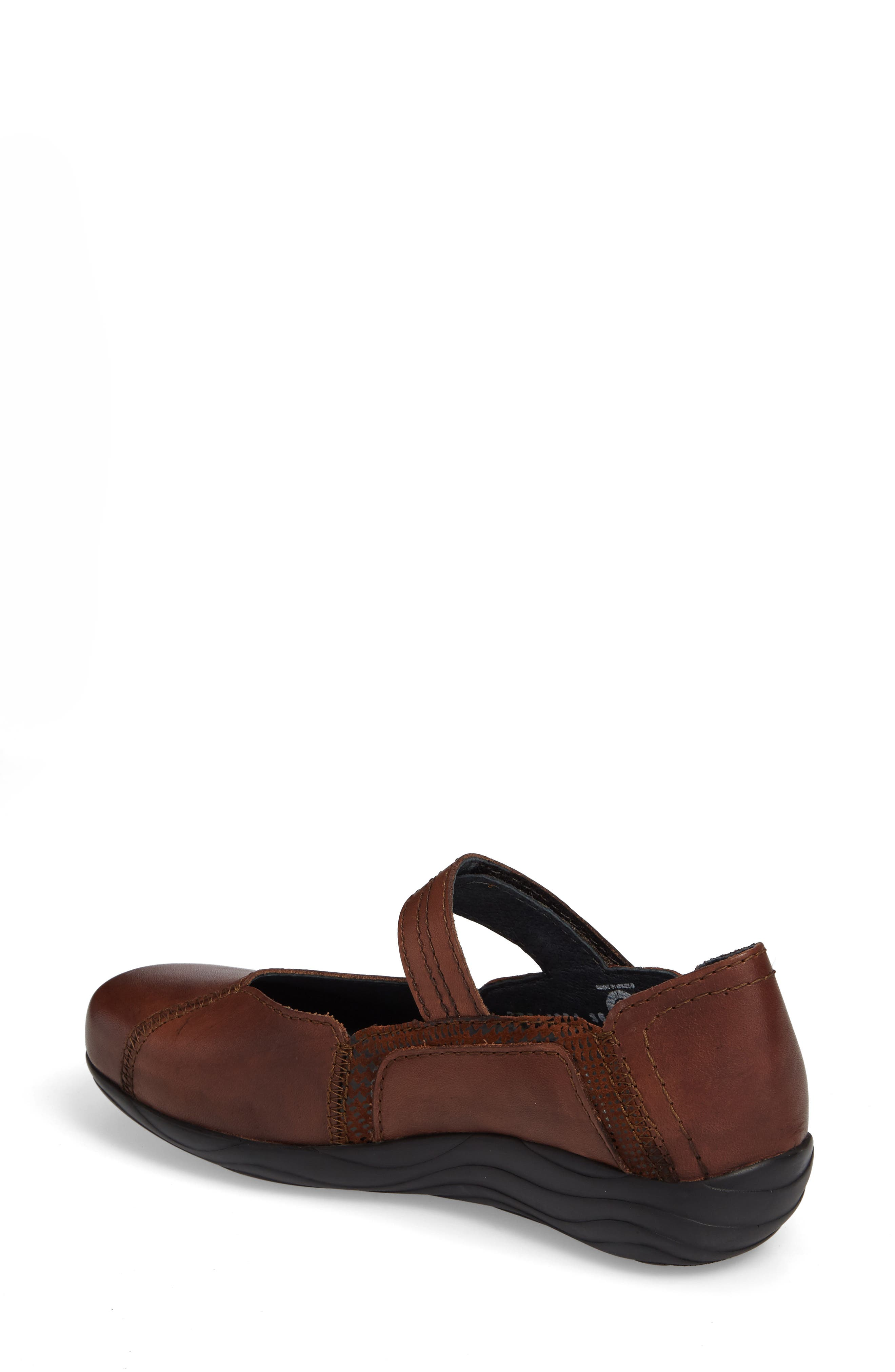 Gila Mary-Jane Flat,                             Alternate thumbnail 2, color,                             Cognac Leather