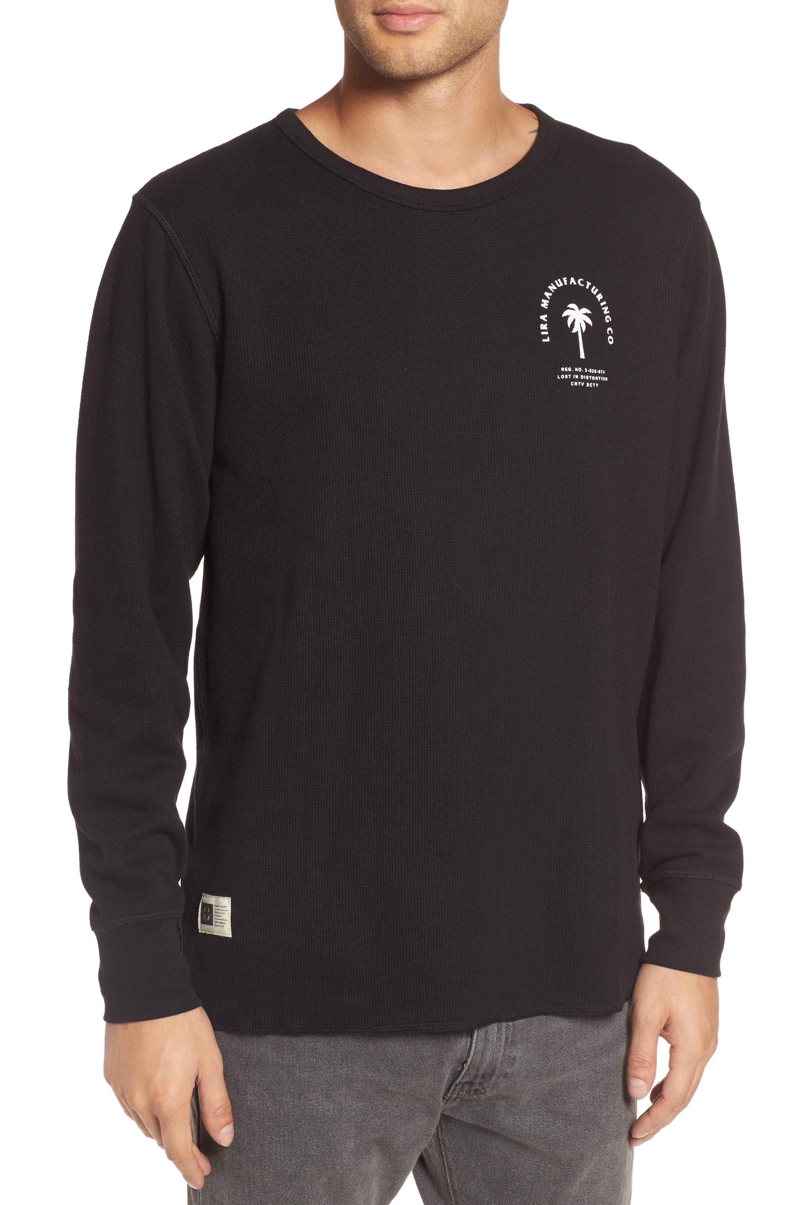 Cochino Thermal T-shirt,                         Main,                         color, Black