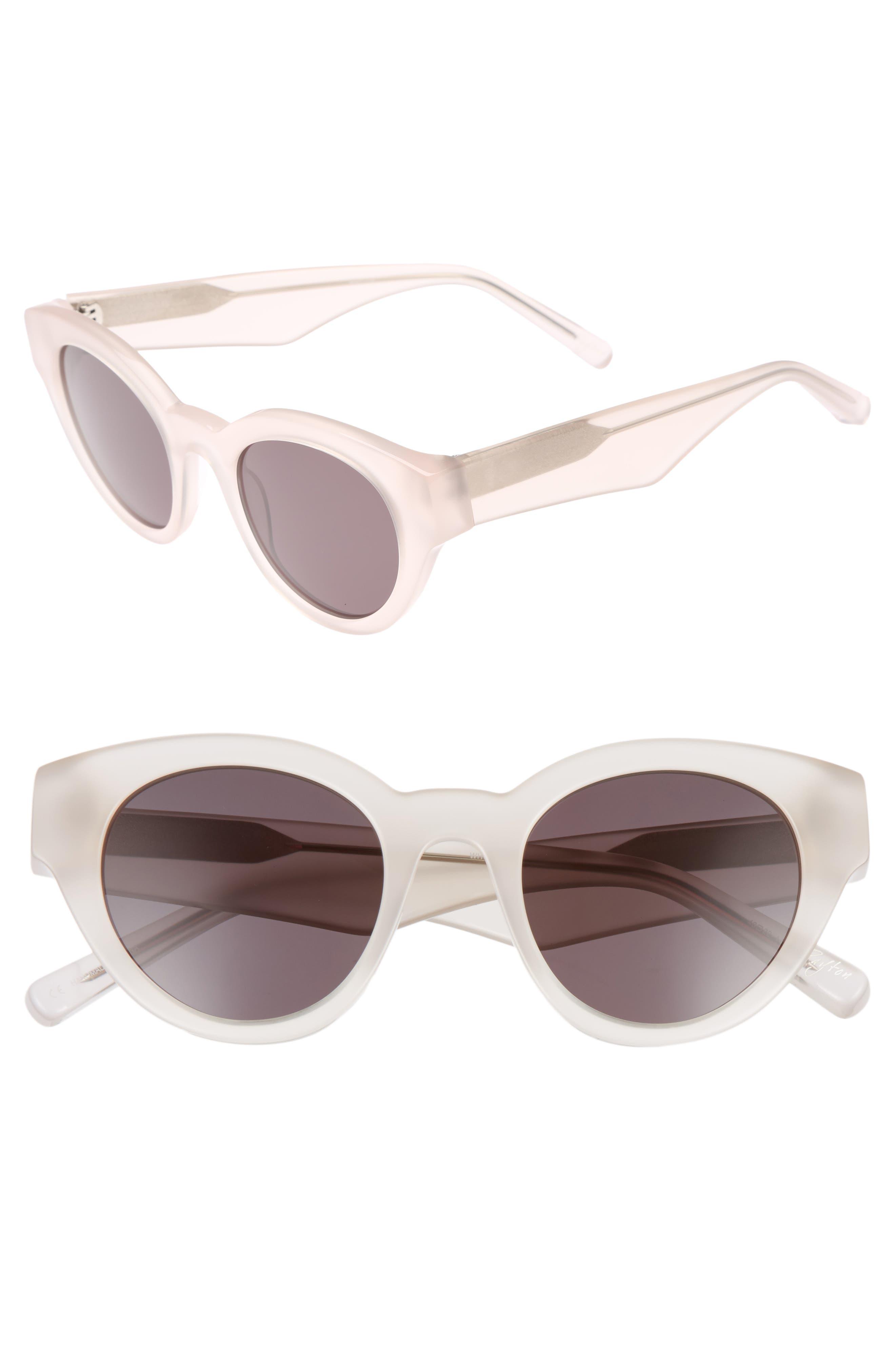 Payton 48mm Cat Eye Sunglasses,                         Main,                         color, White Smoke