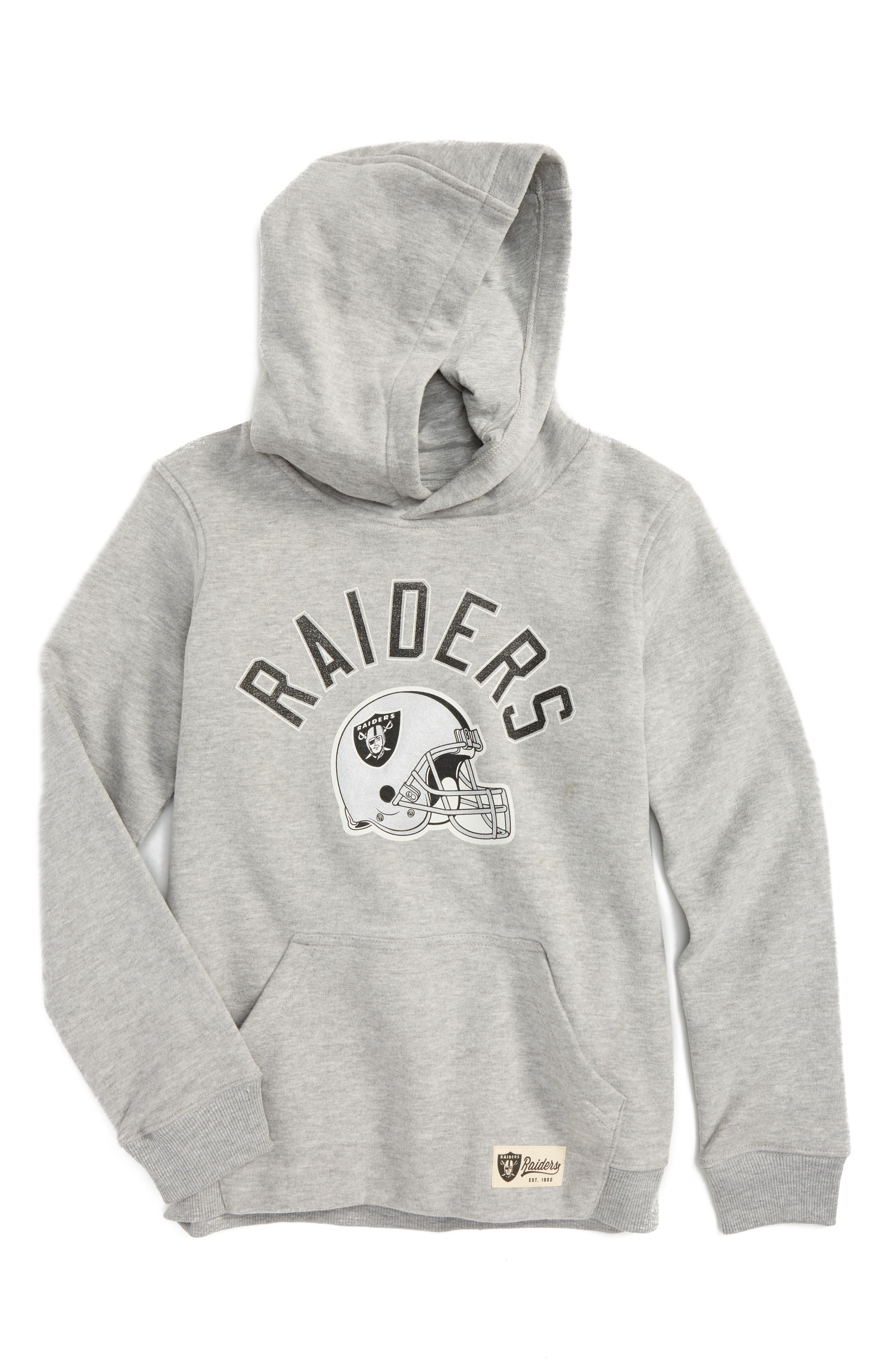 Alternate Image 1 Selected - Outerstuff NFL Oakland Raiders Pullover Hoodie (Big Boys)