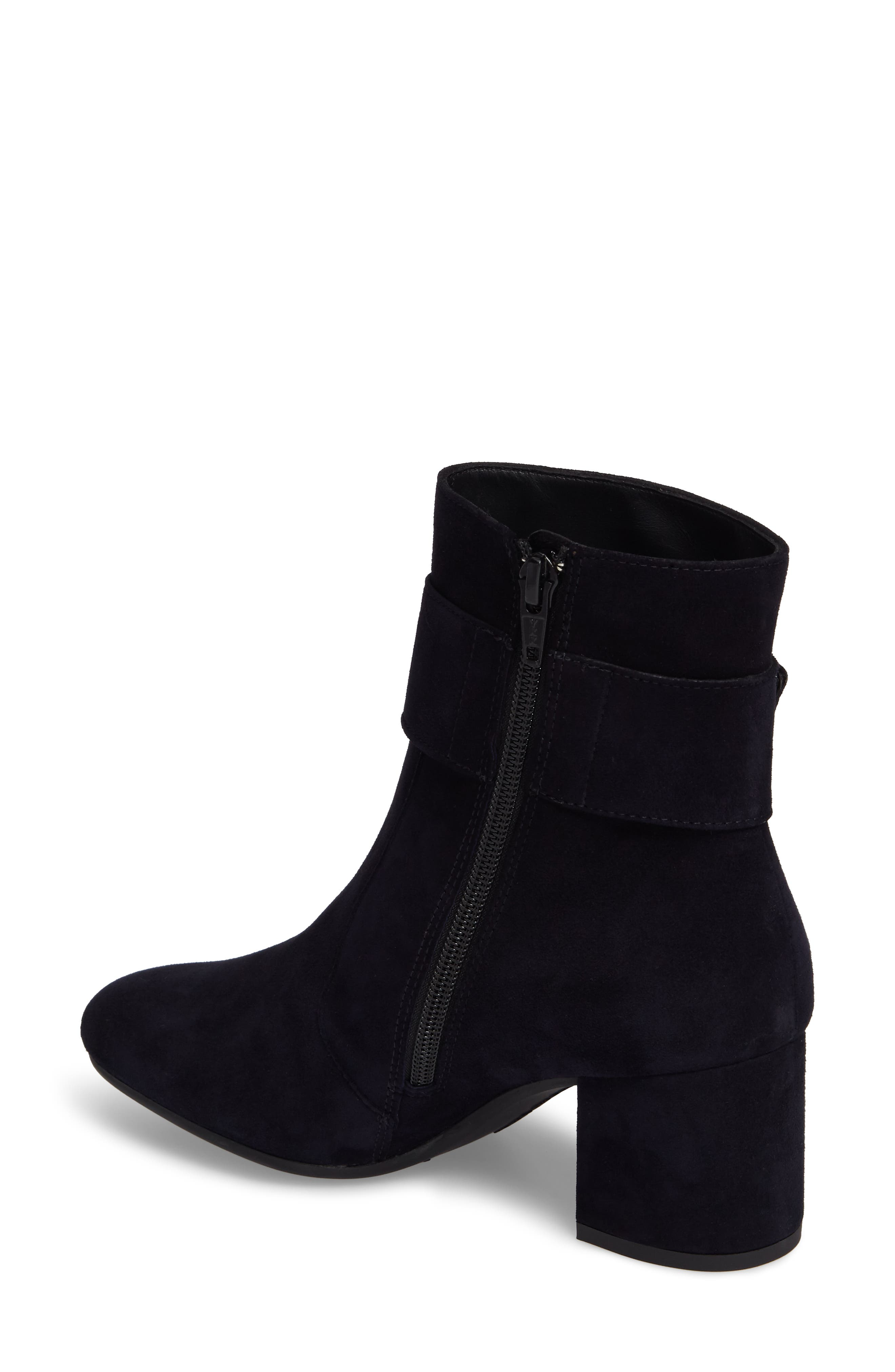 Natalia Buckle Boot,                             Alternate thumbnail 2, color,                             Navy Suede