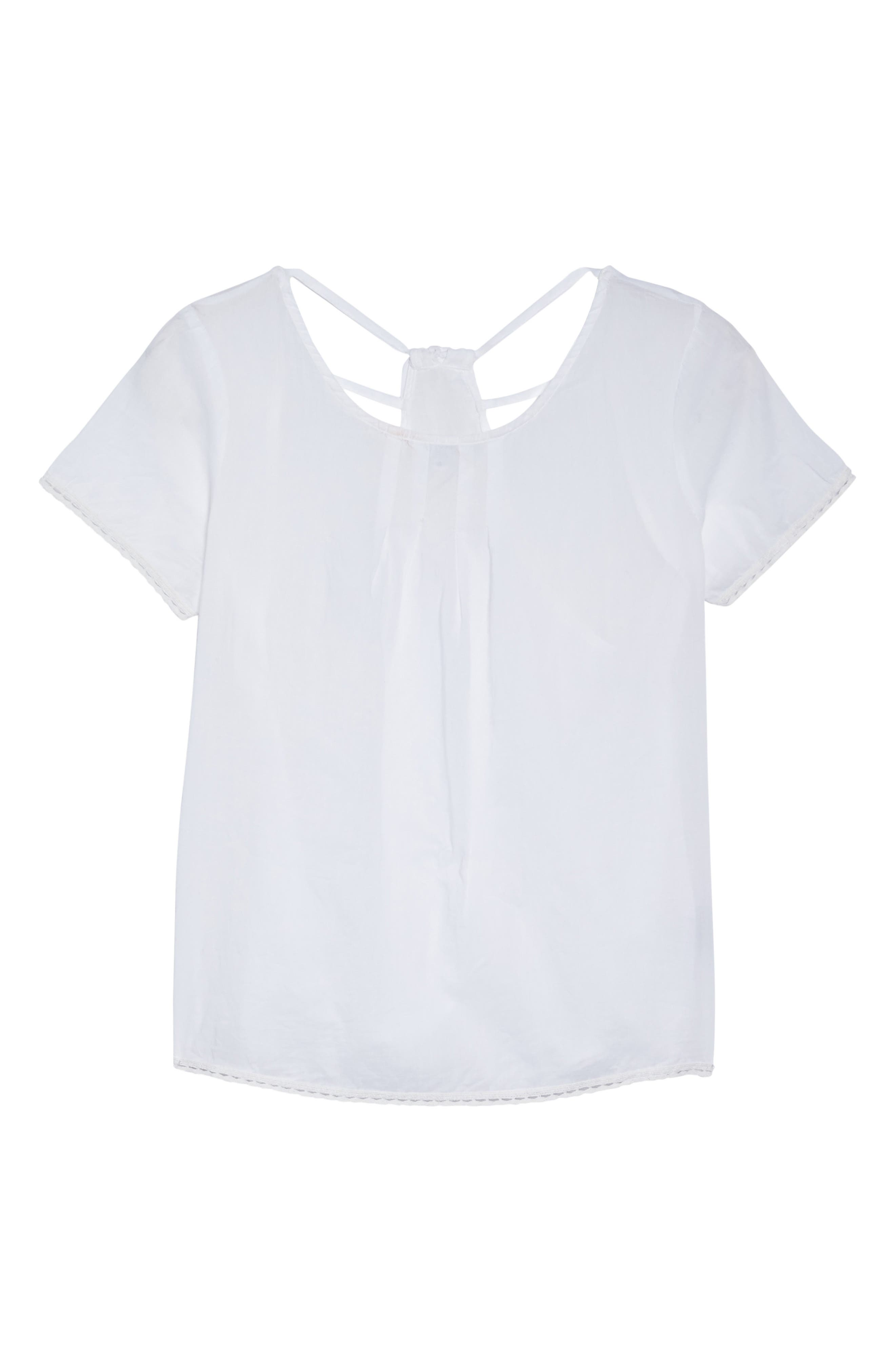 Tie Back Top,                             Alternate thumbnail 4, color,                             White