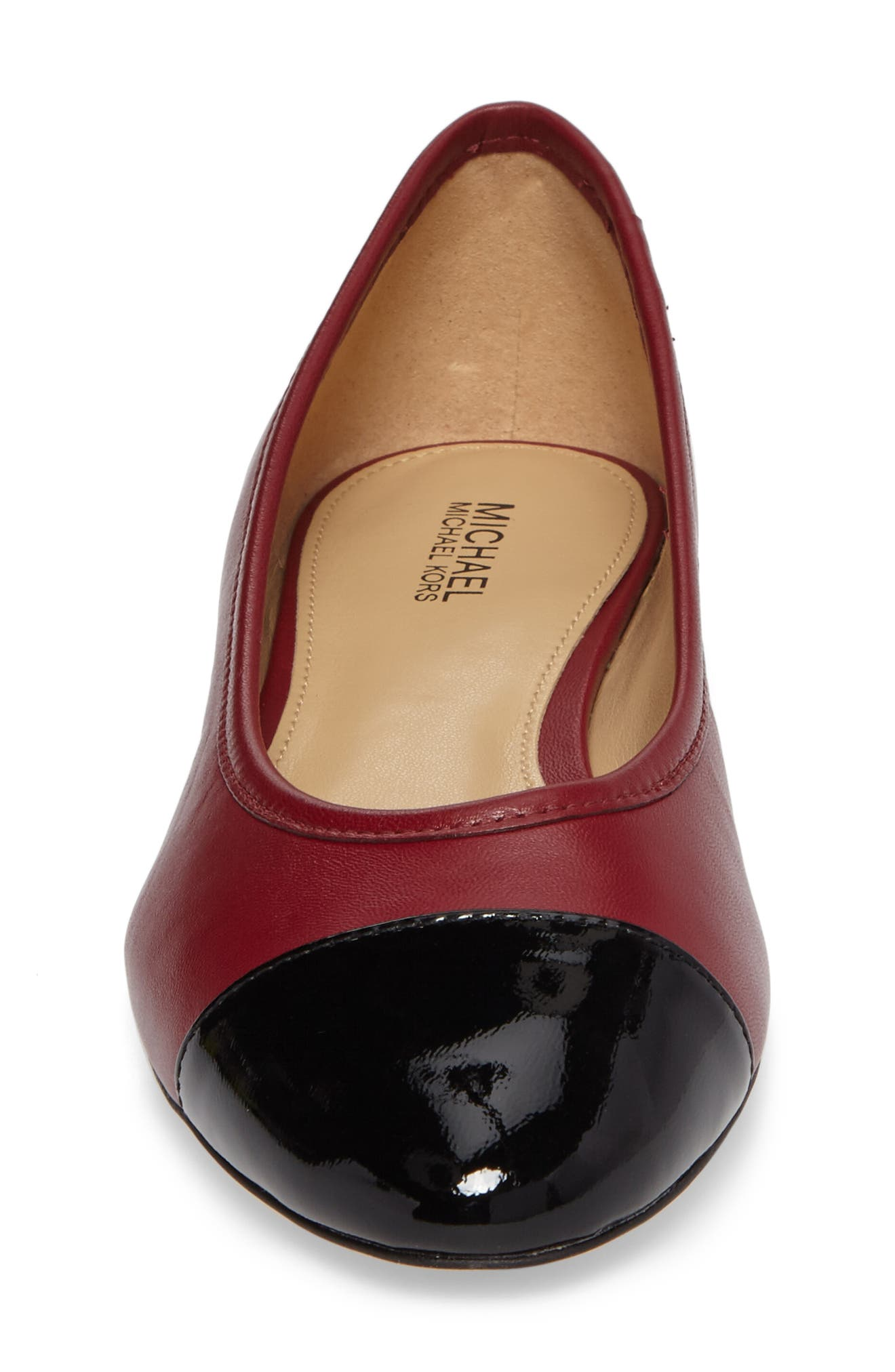 'Sabrina' Ballet Flat,                             Alternate thumbnail 3, color,                             Mulberry Patent Leather